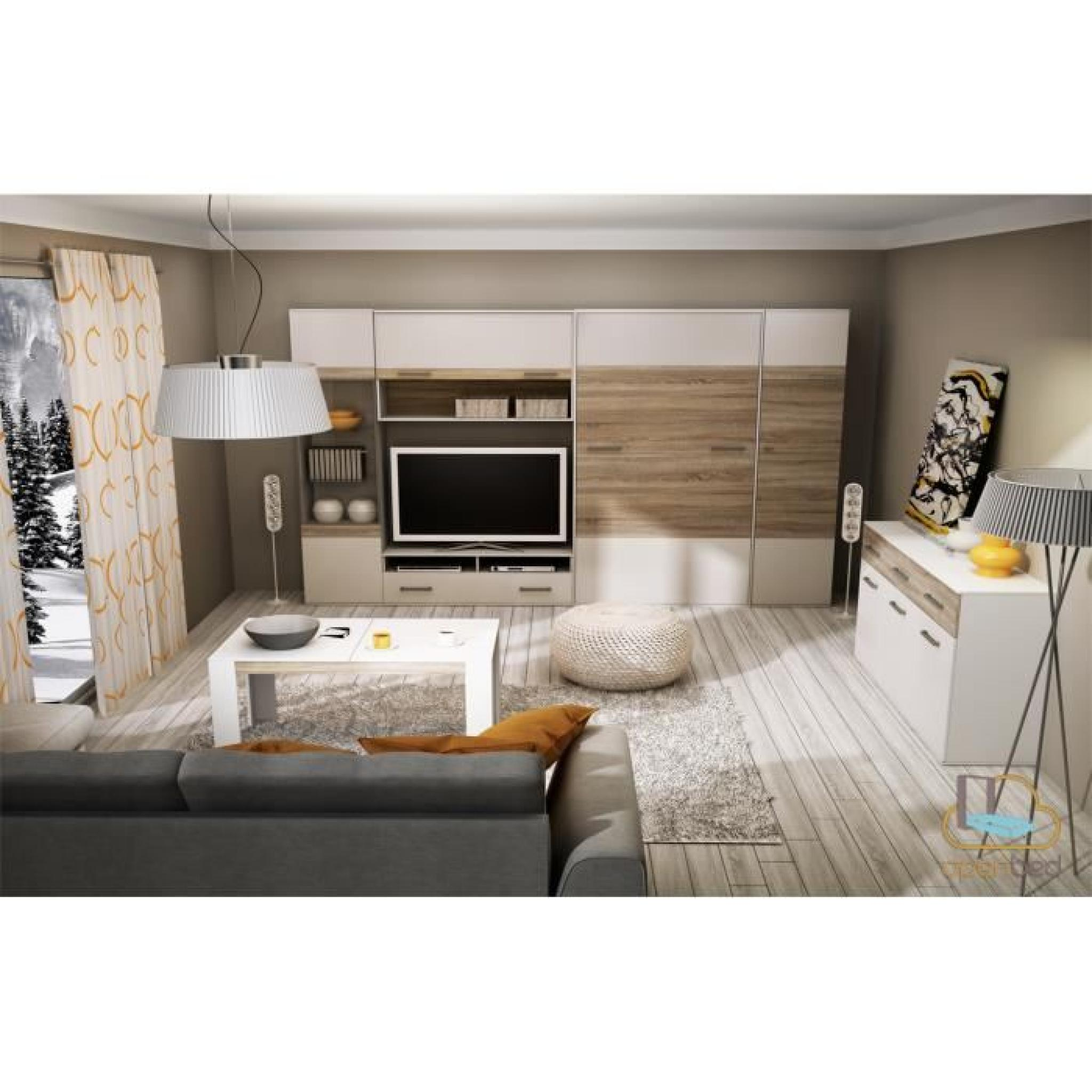 lit escamotable vertical faro 140 200 achat vente chambre complete pas cher couleur et. Black Bedroom Furniture Sets. Home Design Ideas