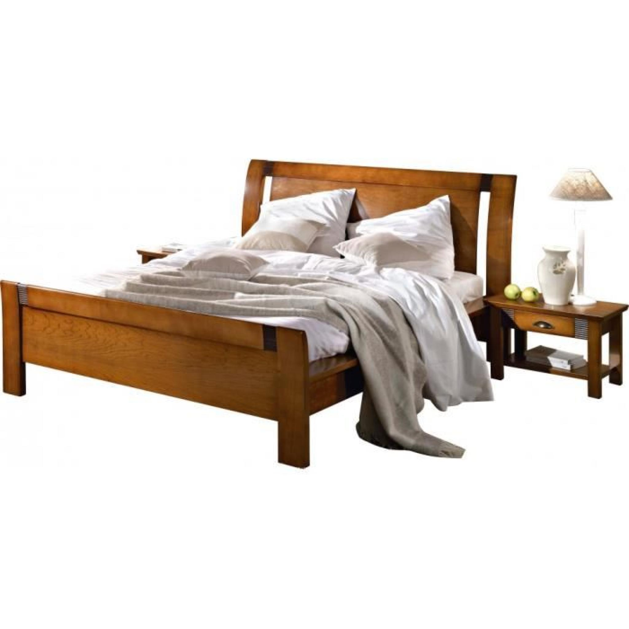 lit haut merisier 180 x 200 achat vente lit pas cher couleur et. Black Bedroom Furniture Sets. Home Design Ideas