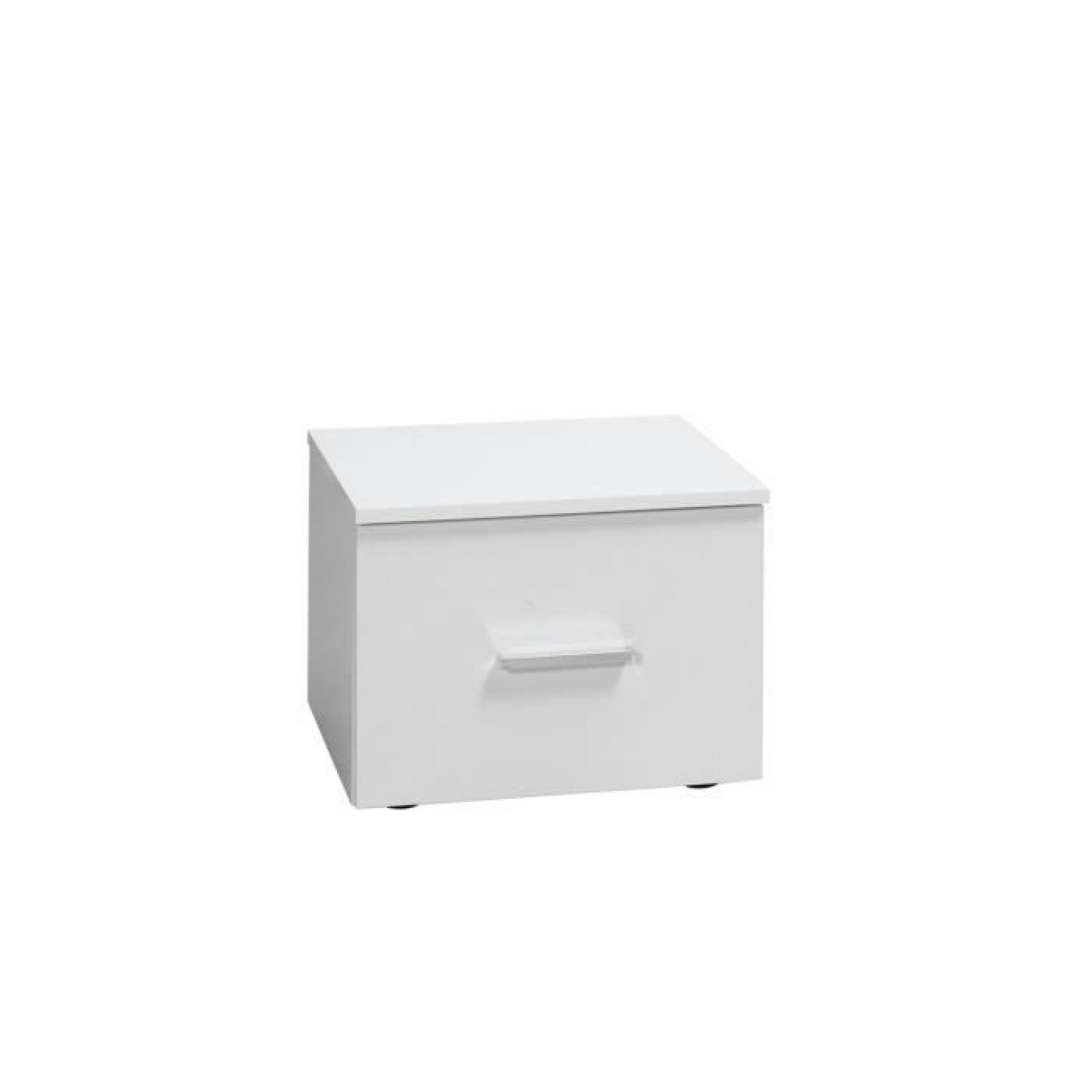 lit led chevets commode panarea blanc laqu achat. Black Bedroom Furniture Sets. Home Design Ideas