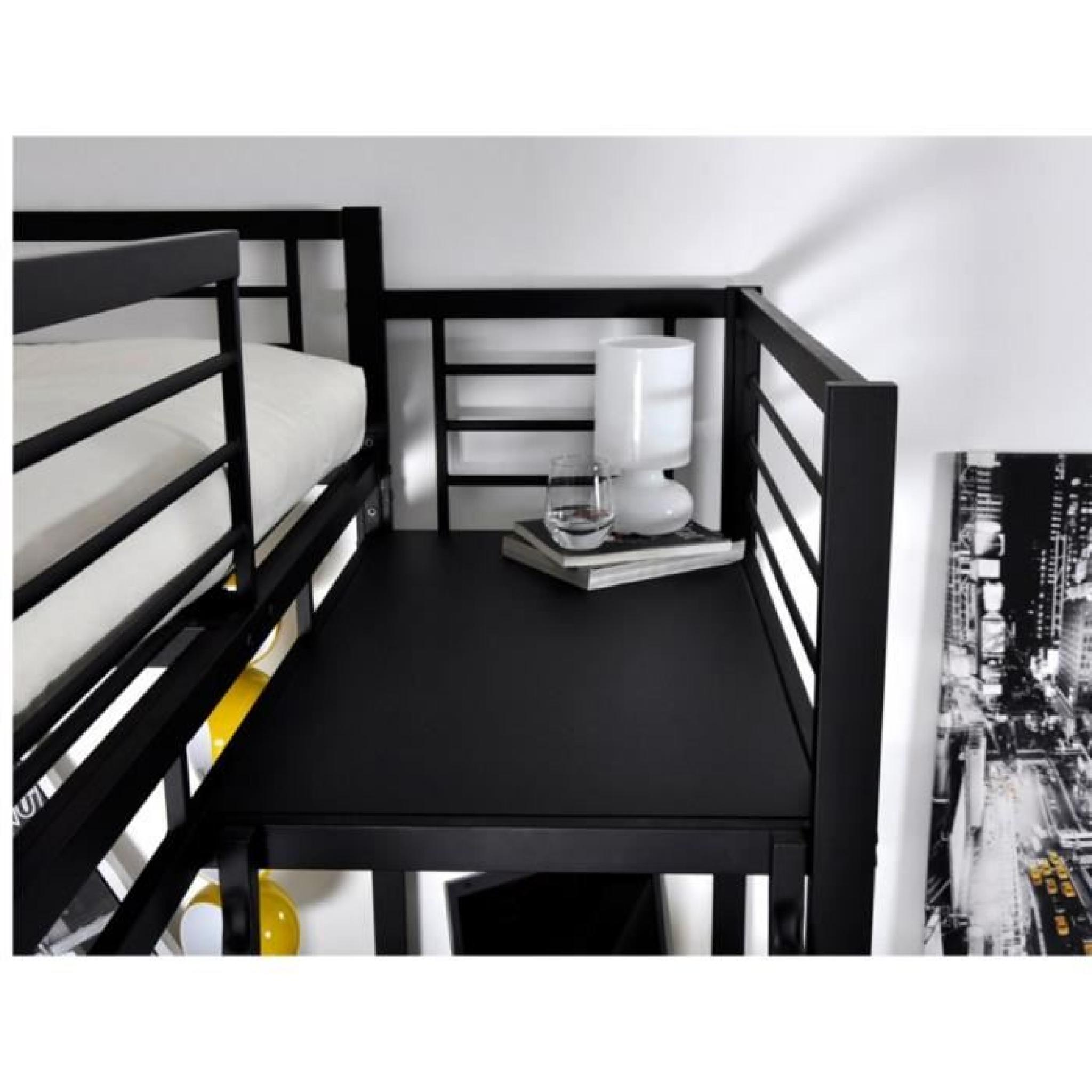lit mezzanine casual ii couchage 140x190cm plateforme. Black Bedroom Furniture Sets. Home Design Ideas