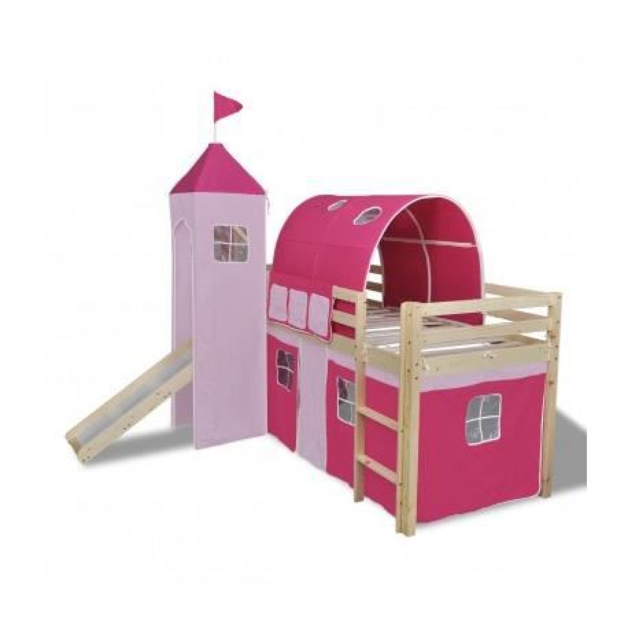 lit mezzanine toboggan ch teau princesse maja achat. Black Bedroom Furniture Sets. Home Design Ideas