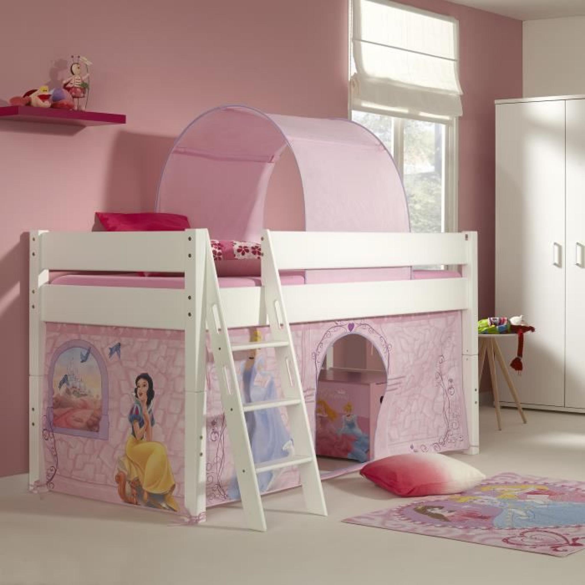 Lit Mi Hauteur Pour Enfant Princesse Disney Achat Vente Lit