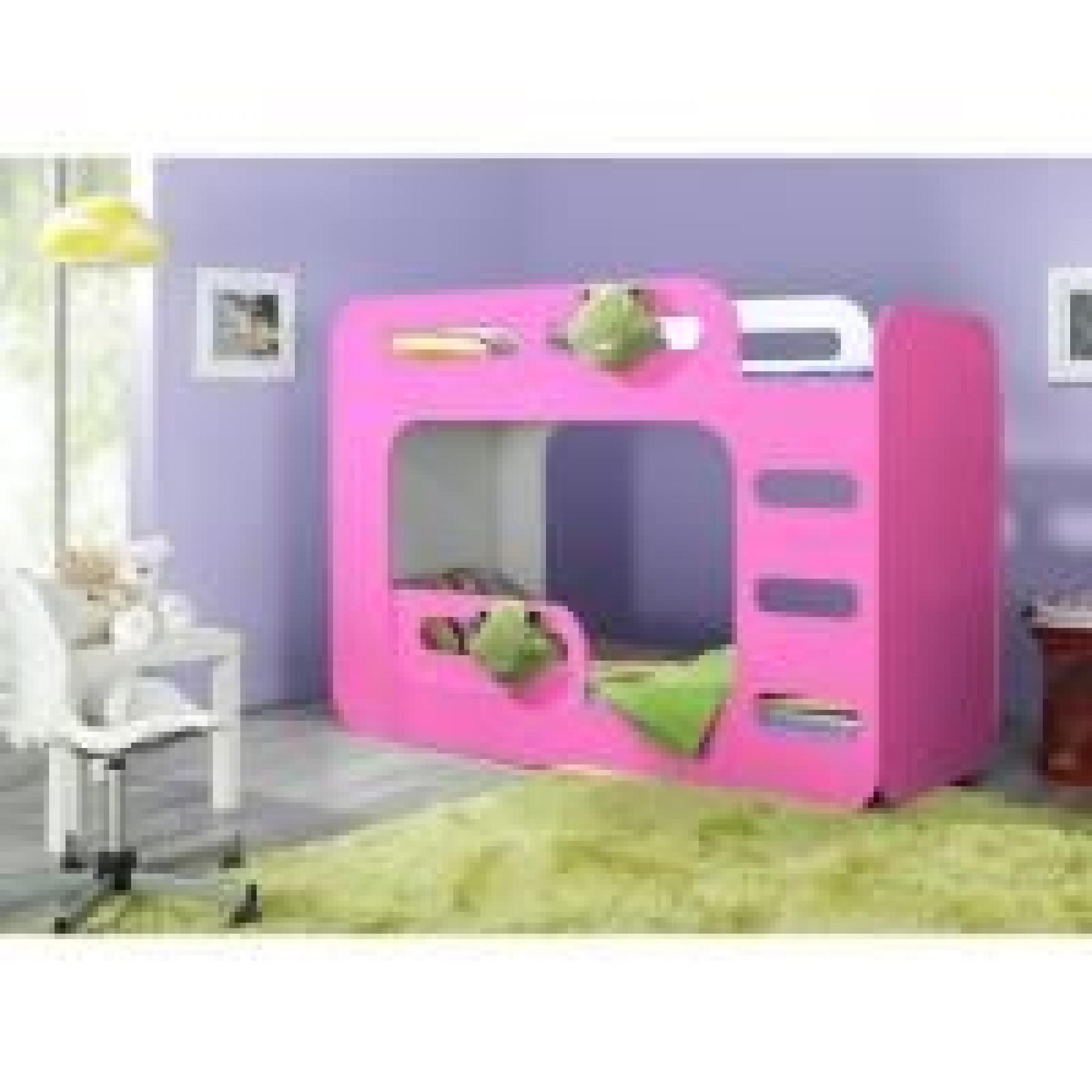 lit superpose enfant bingo bleu achat vente lit. Black Bedroom Furniture Sets. Home Design Ideas