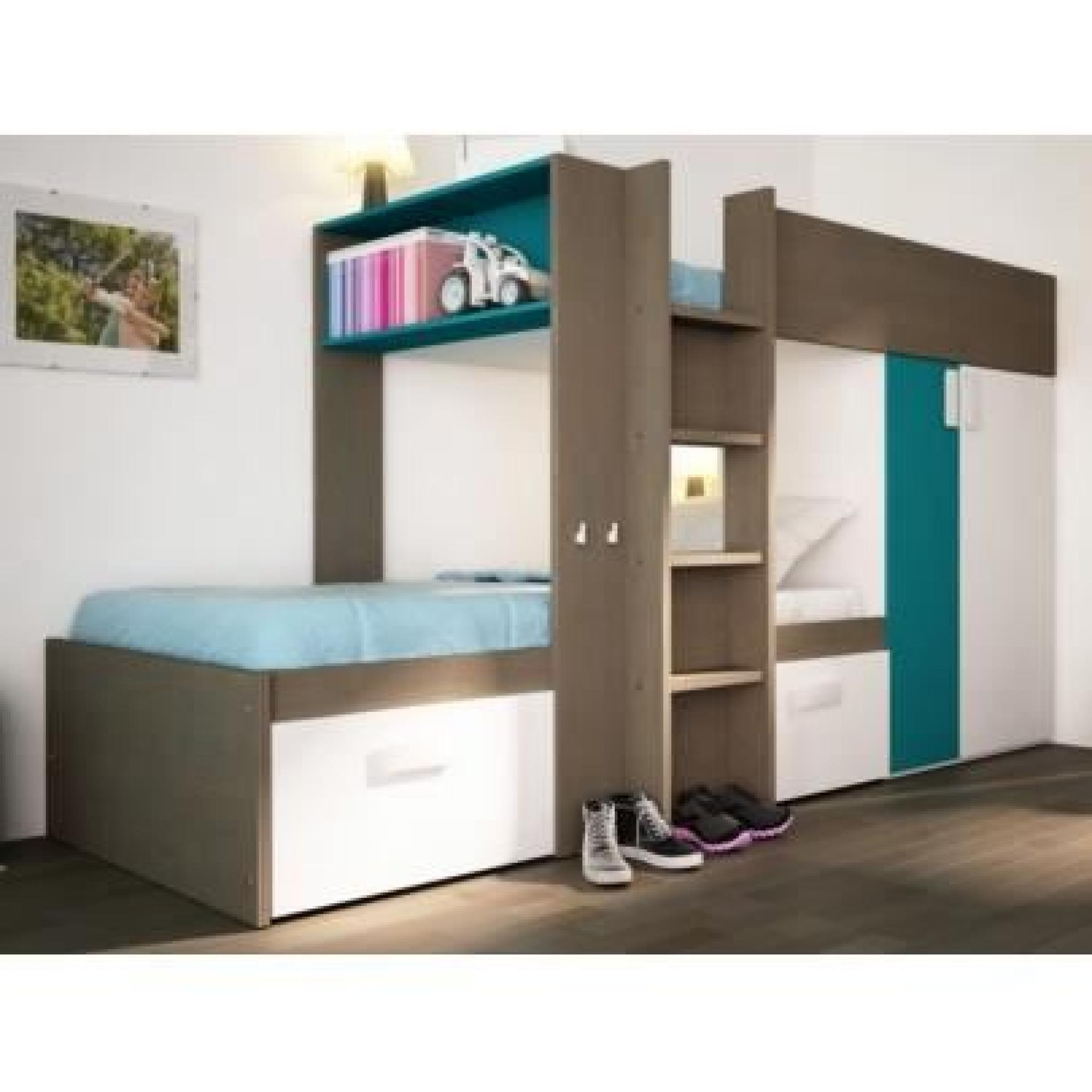 lits superpos s julien 2x90x190cm armoire int gr e. Black Bedroom Furniture Sets. Home Design Ideas