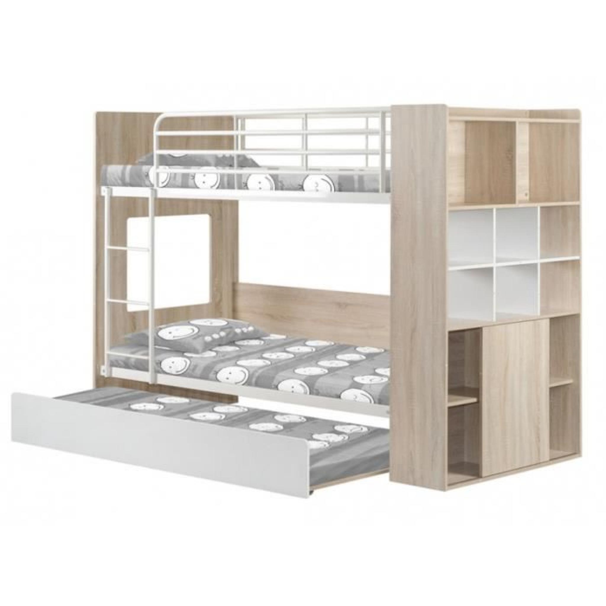 lits superpos s marcus avec lit gigogne etag res int gr es blanc achat vente lit superpose. Black Bedroom Furniture Sets. Home Design Ideas