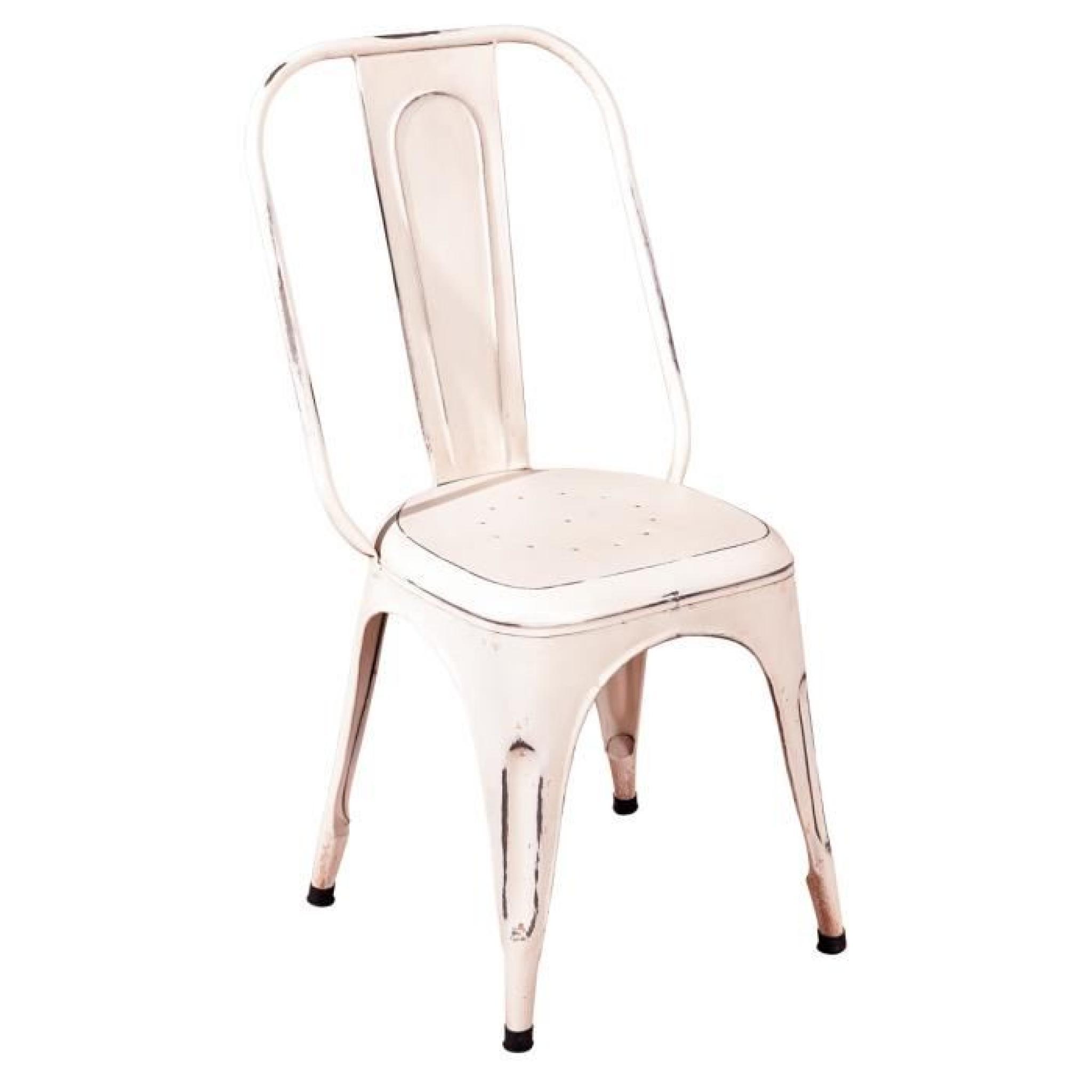 4 Métal Lot A Blanc Chaise Chaises Salle Manger Achatvente Loft WDH2E9I
