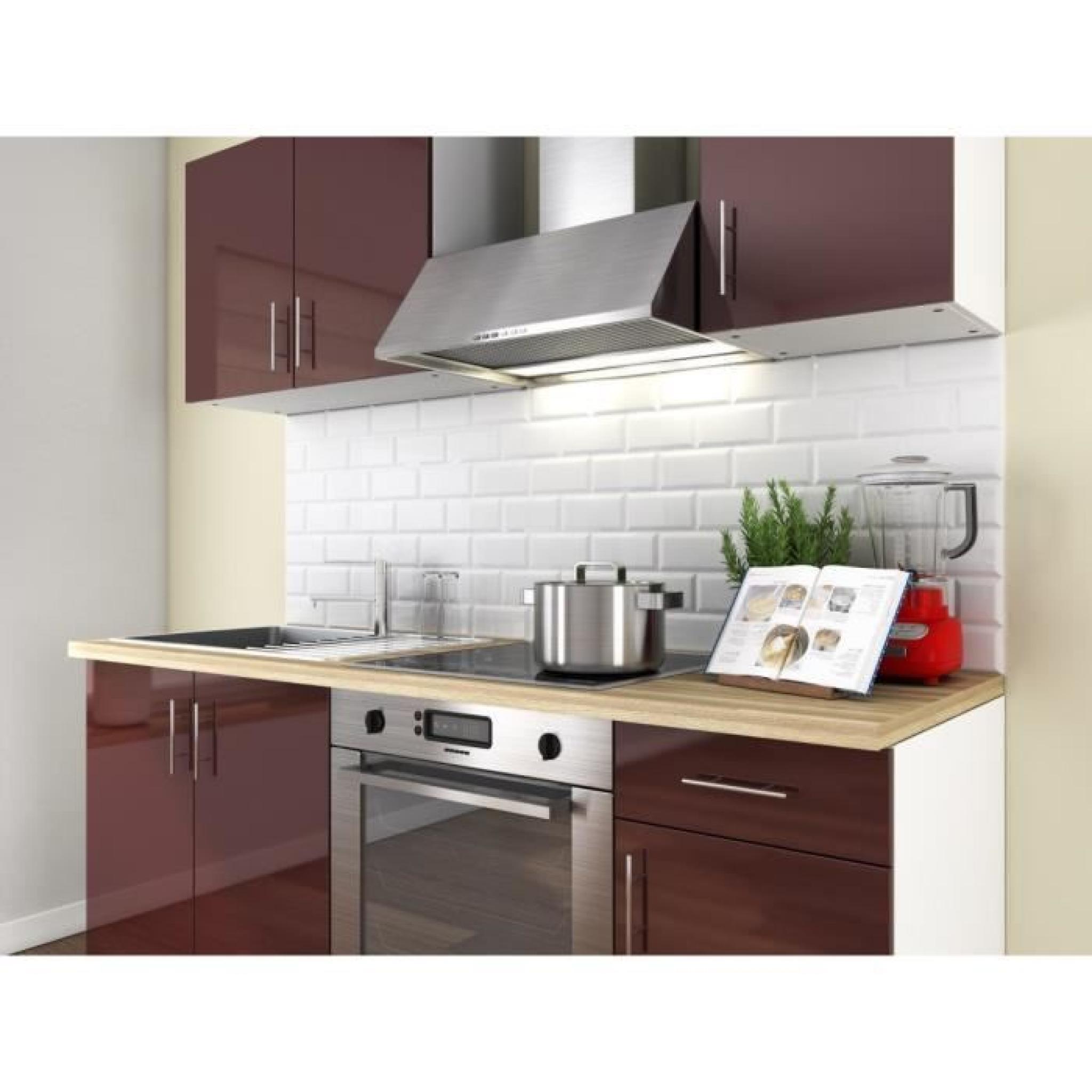 loft cuisine compl te 1m80 laqu bordeaux haute brillance achat vente cuisine complete pas. Black Bedroom Furniture Sets. Home Design Ideas
