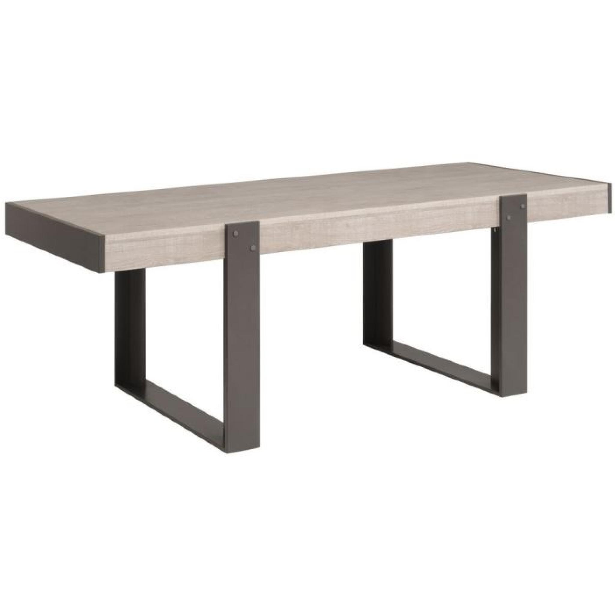 LOFT Table à manger L224 cm décor gris - Achat/Vente table salle a ...
