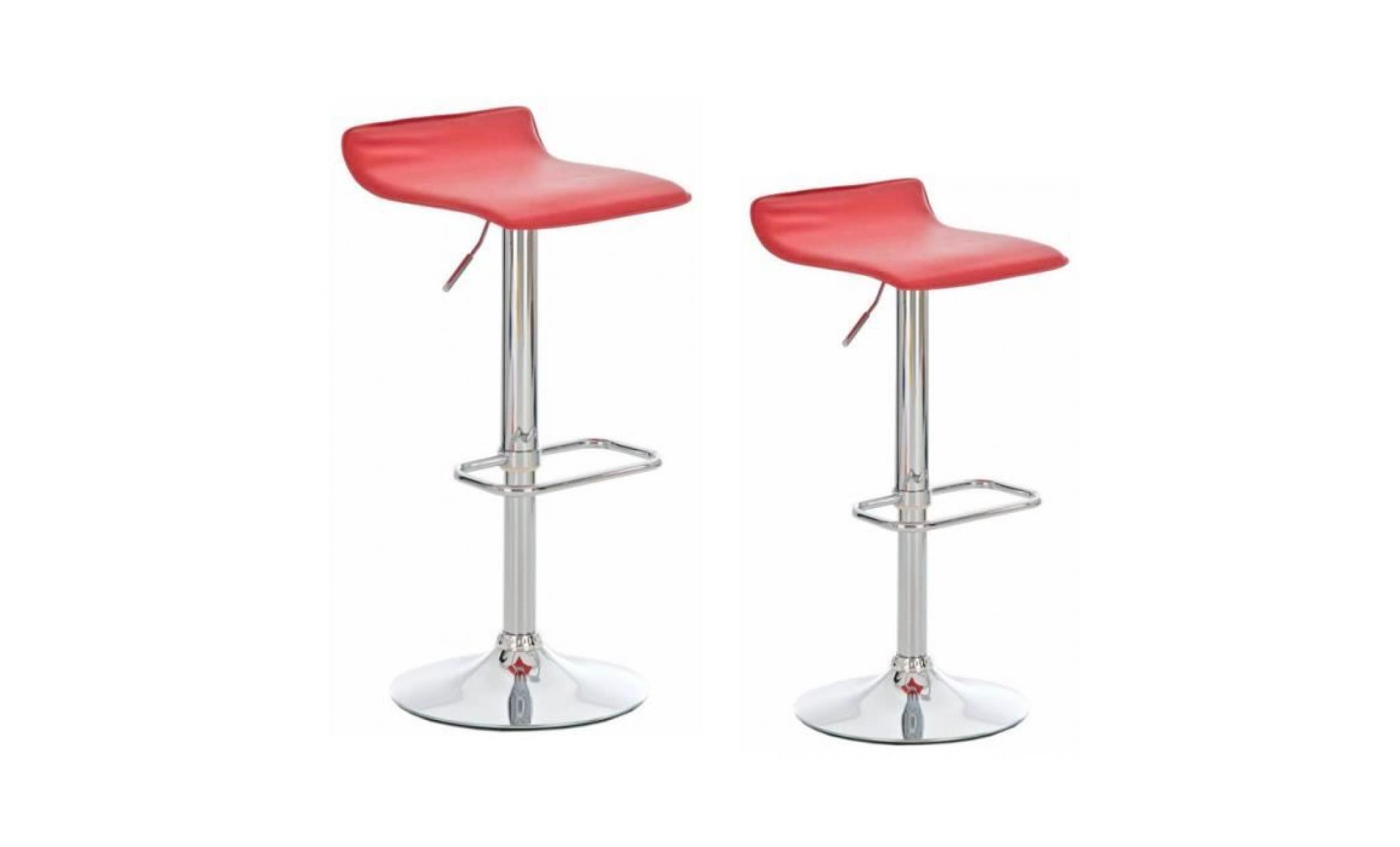 lololoo 2 pcs tabouret de bar, rouge, chaise fauteuil bar cuisine américaine neuf