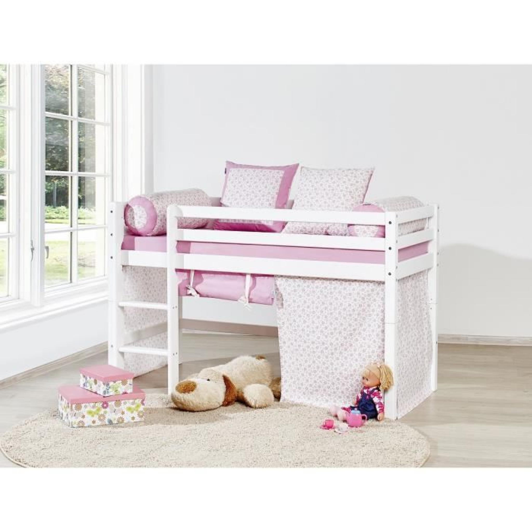 loop princesse lit superpos enfant 70x160cm blanc achat vente lit pas cher couleur et. Black Bedroom Furniture Sets. Home Design Ideas