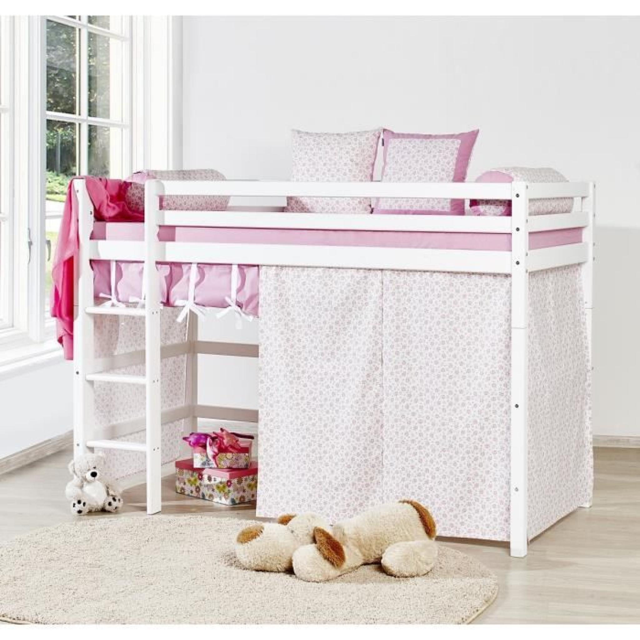 loop princesse lit superpos enfant 90x200cm blanc achat vente lit pas cher couleur et. Black Bedroom Furniture Sets. Home Design Ideas