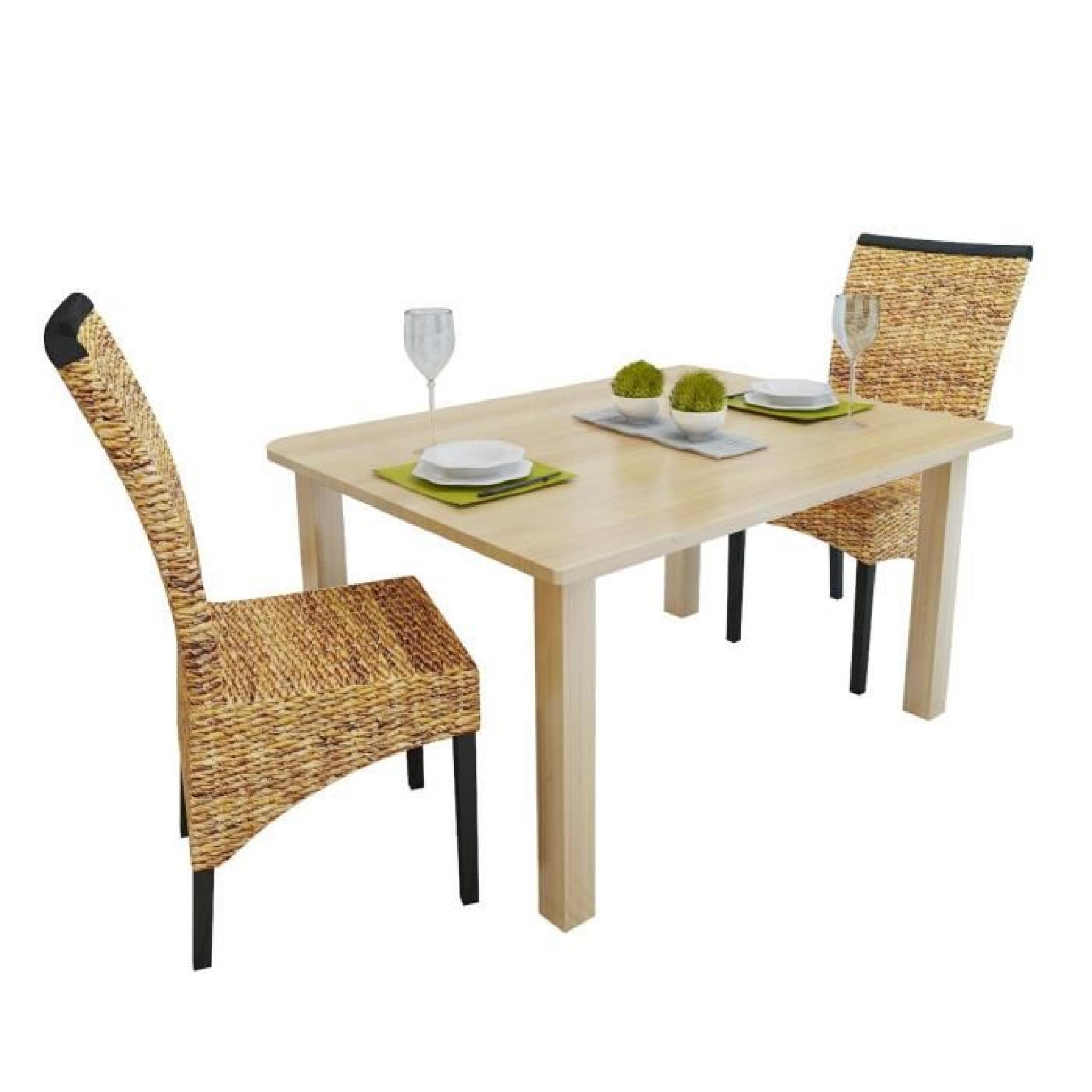 Lot 2 chaises en abaca brun faites la main achat vente for Chaises salle a manger 2 main