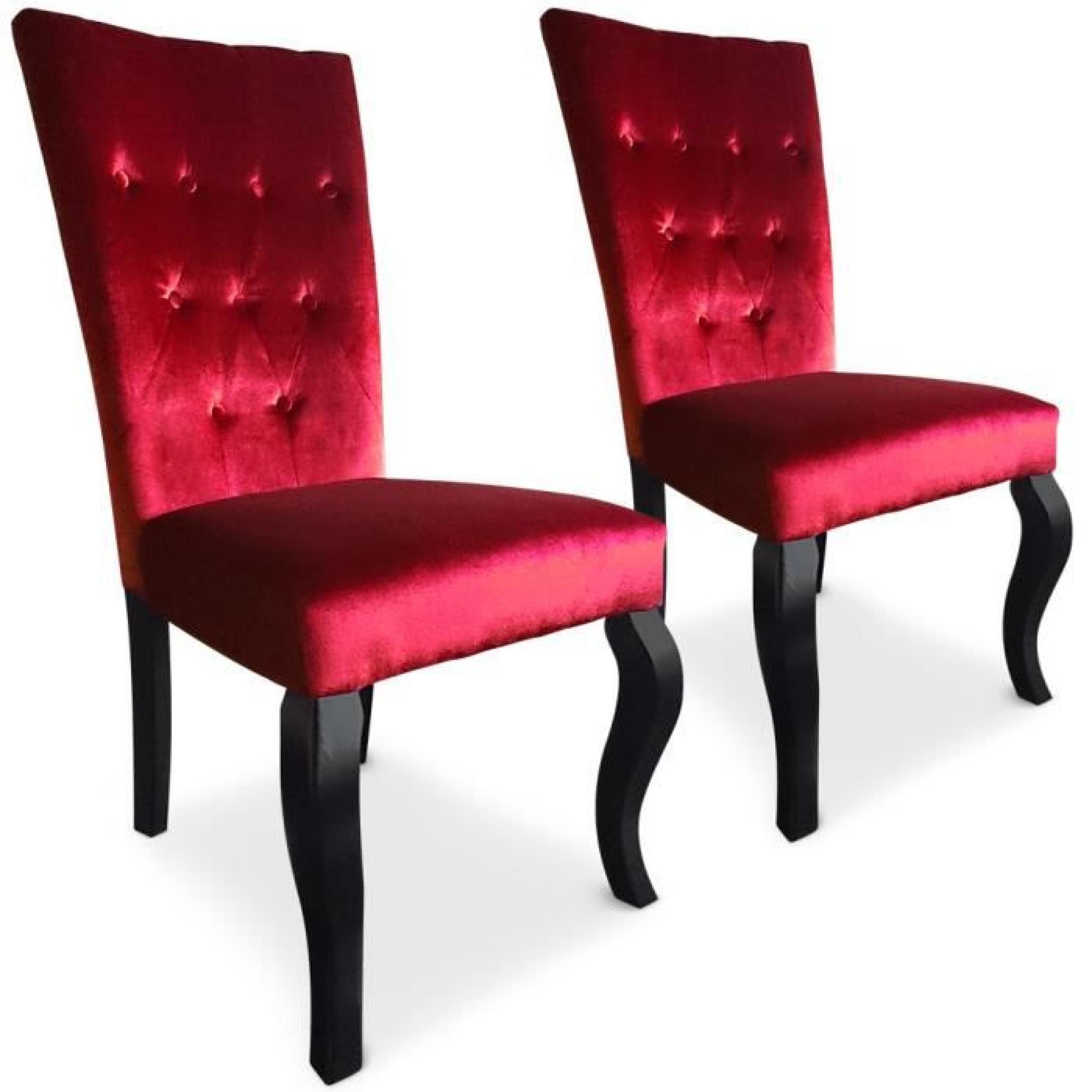 Lot de 2 chaises Beata Rouge