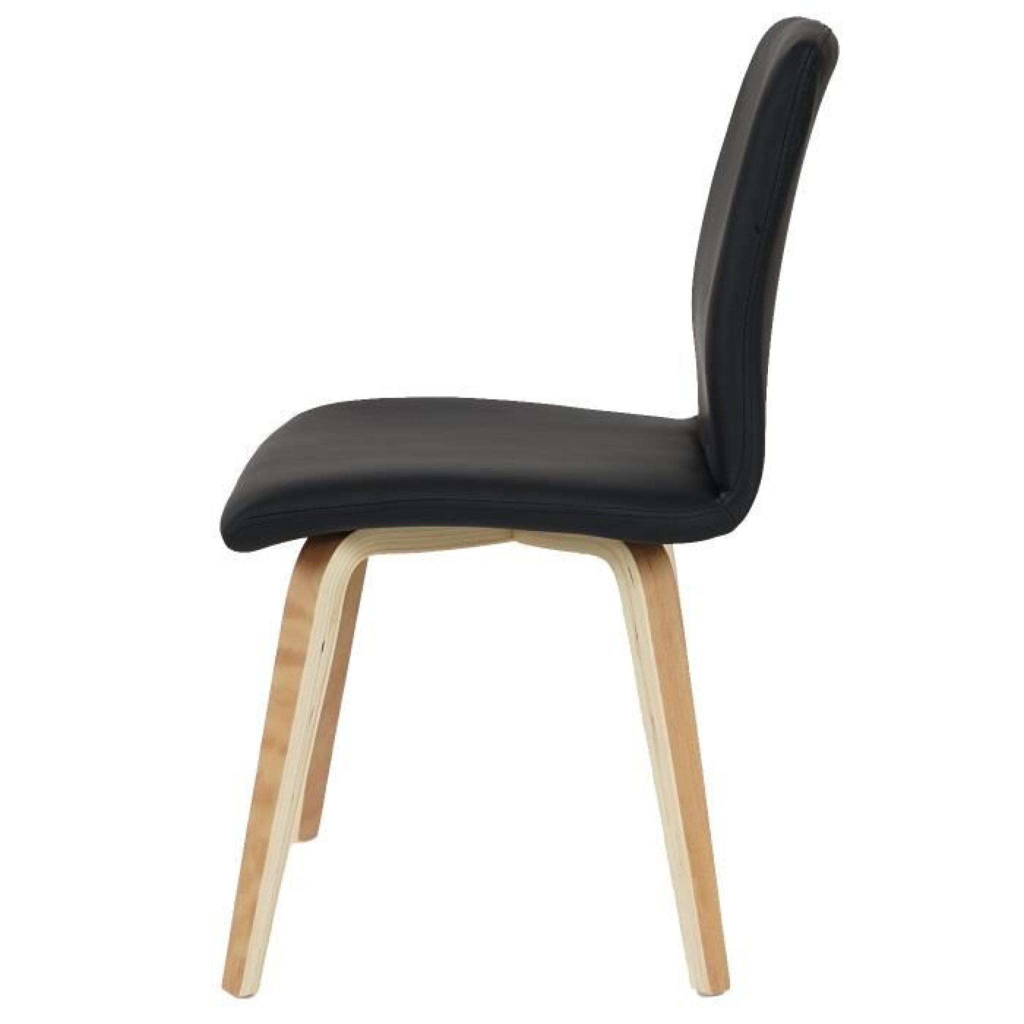 lot de 2 chaises de s jour bendorf style r tro pieds clairs tissu gris achat vente chaise. Black Bedroom Furniture Sets. Home Design Ideas