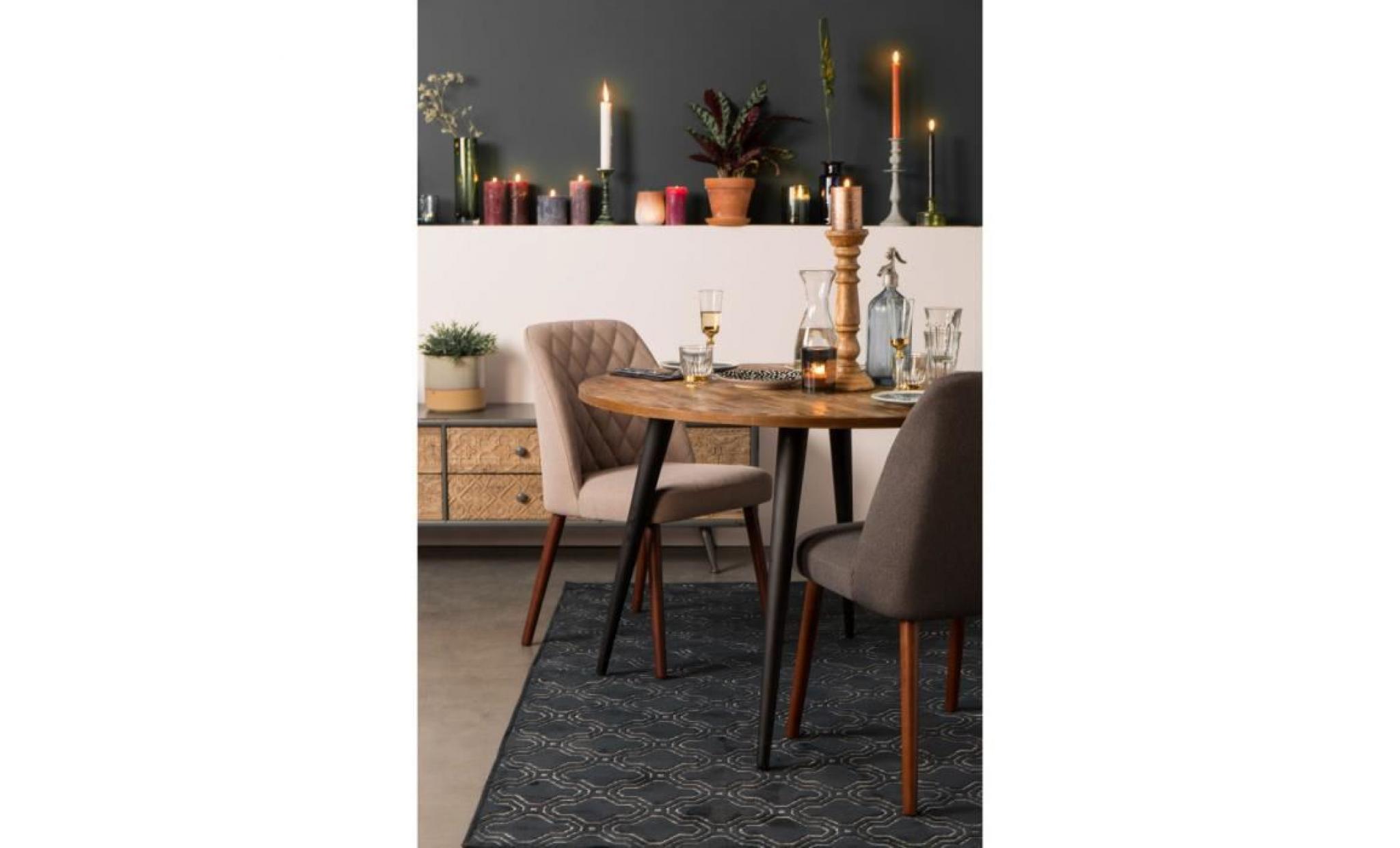 chaises couleur conway design en beige lot de tissu 2 sQhtrCd