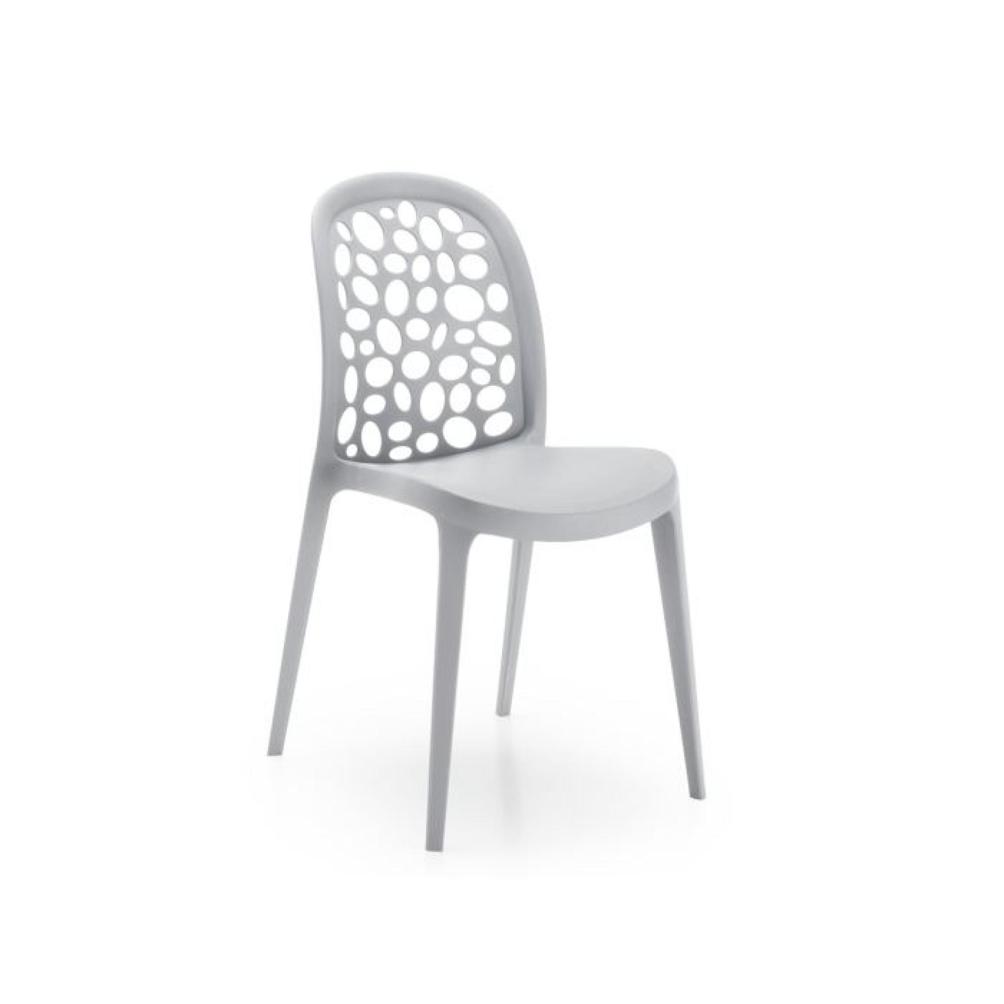 chaise messy gris achat vente chaise salle a manger pas cher couleur et. Black Bedroom Furniture Sets. Home Design Ideas