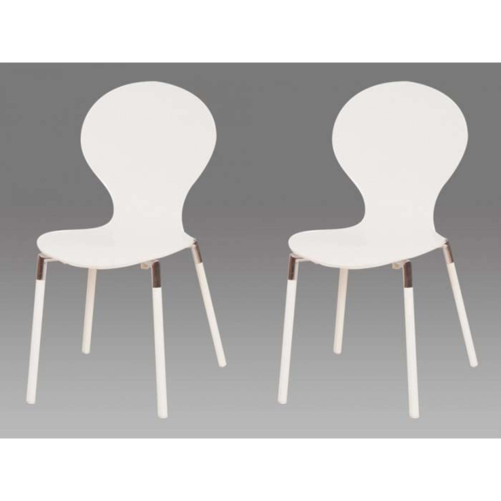 Lot de 2 chaises empilables billings bouleau et achat for Lot de 8 chaises pas cher