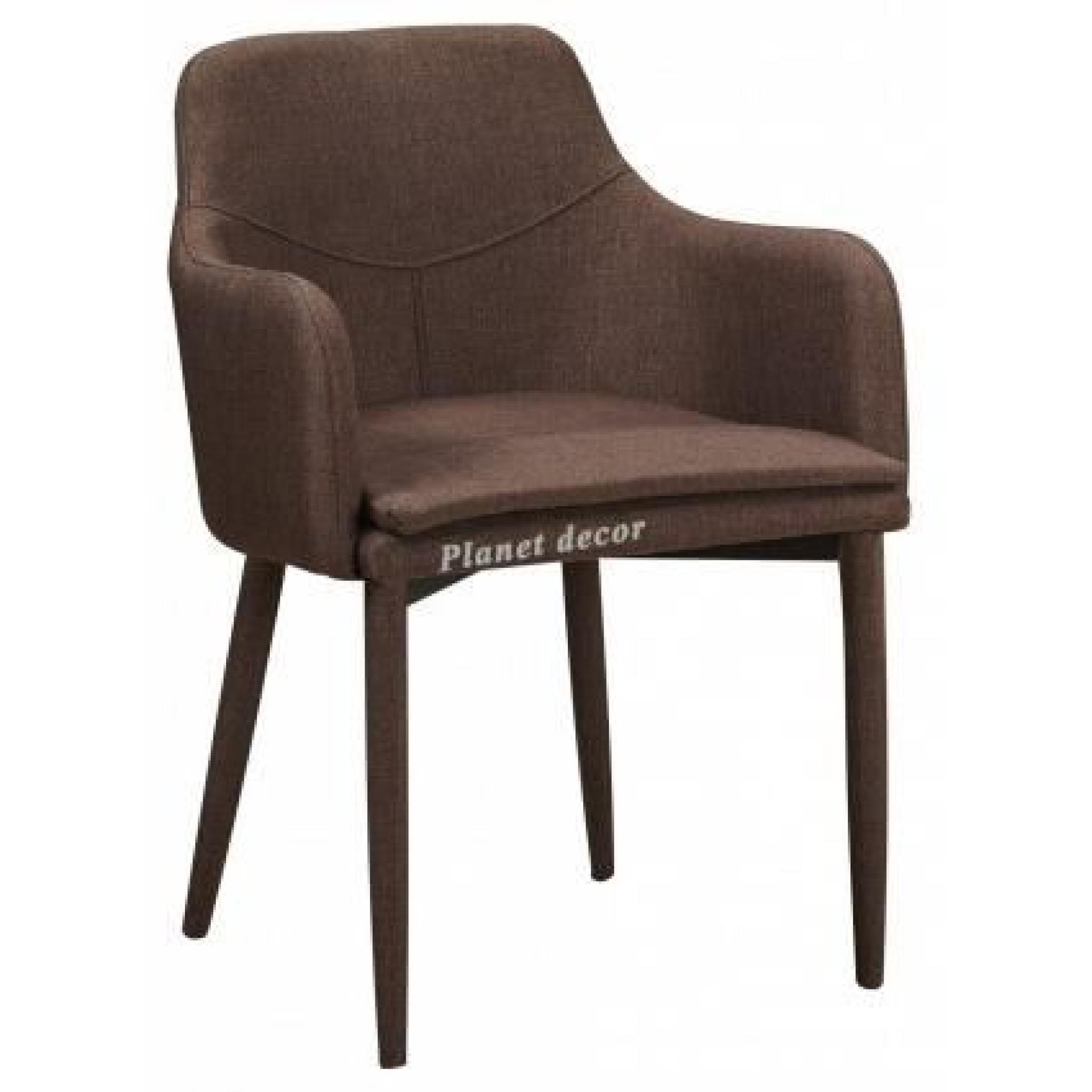 Lot De 2 Chaises En Tissus Design Avec Accoudoirs Coloris Beige