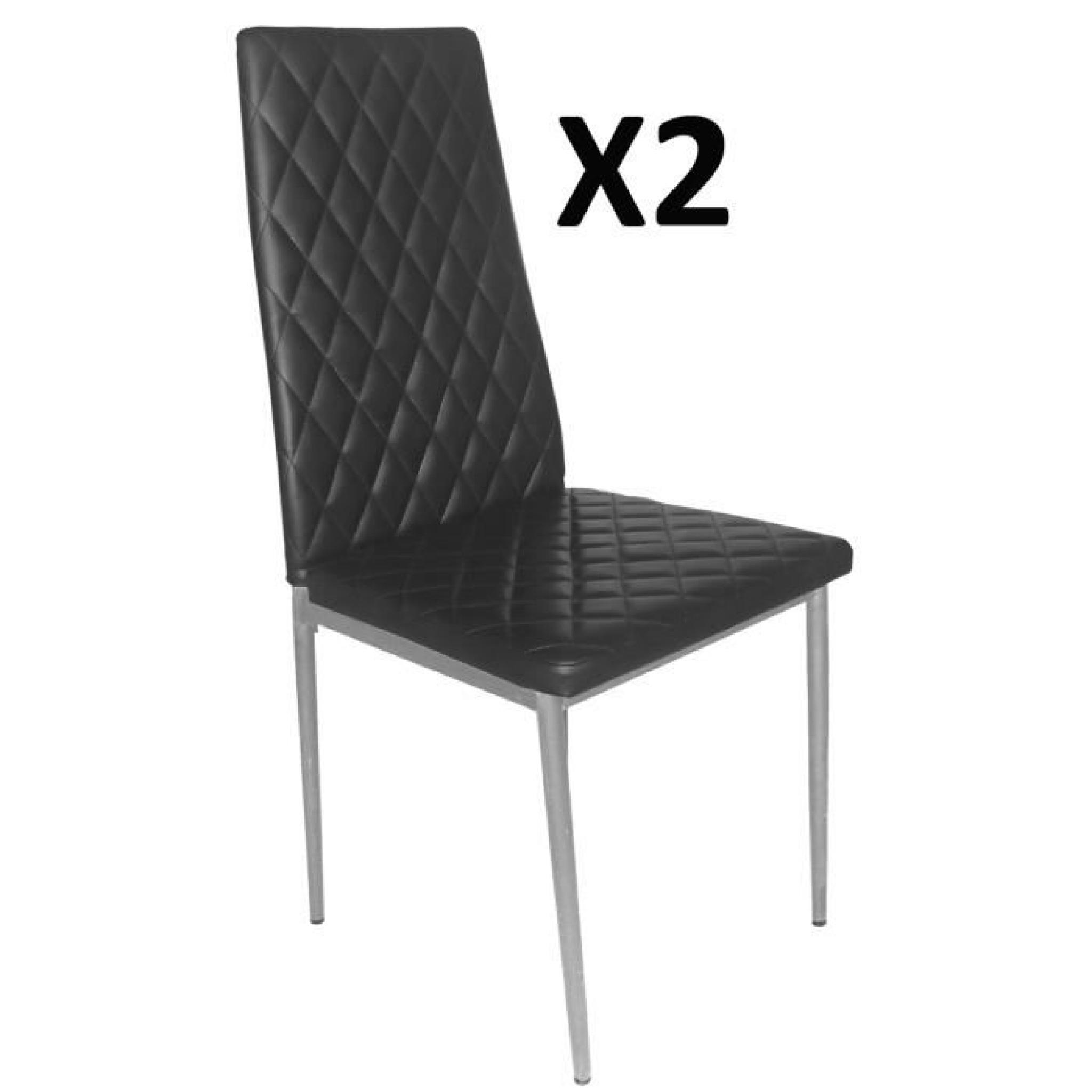 Lot De 2 Chaises Longue Salon Noir Gris Argent 500 X 415 950 Mm
