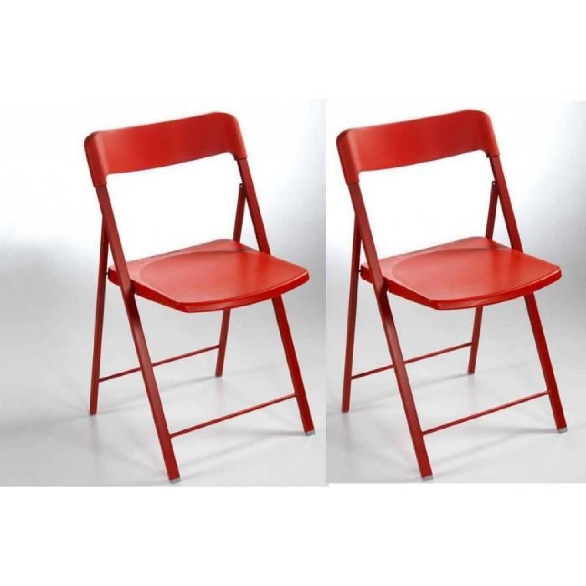 chaise plastique couleur pliante