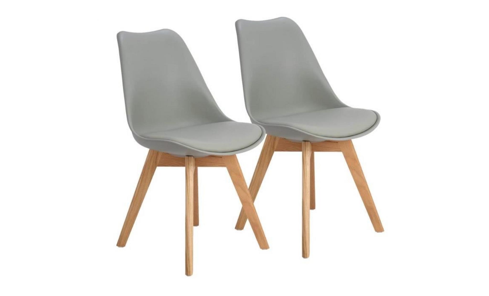 Lot de 2 chaisesde salle à manger scandinaves contemporaines