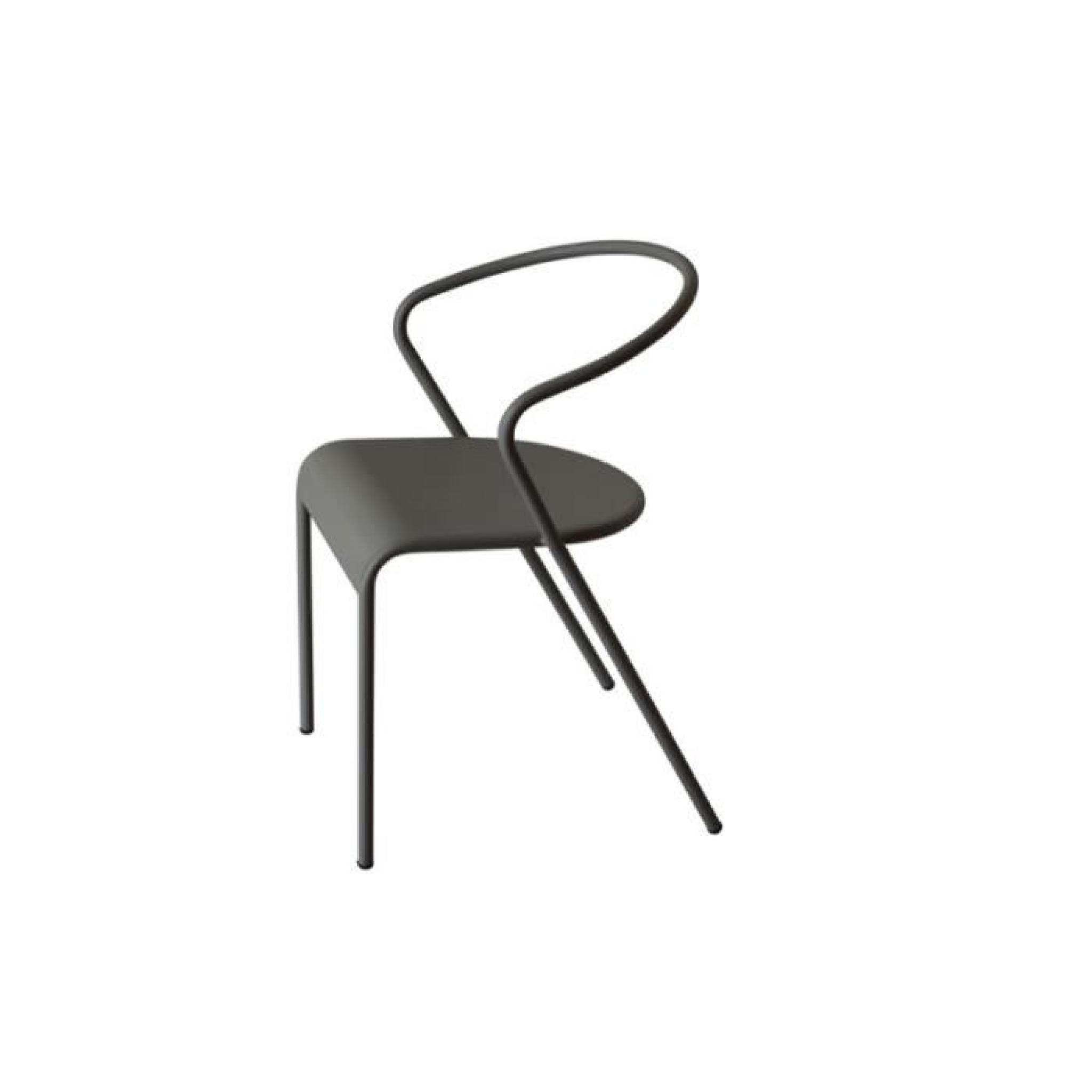 Lot de 2 chaises swithome akaros m tal grises achat - Chaise grise pas cher ...