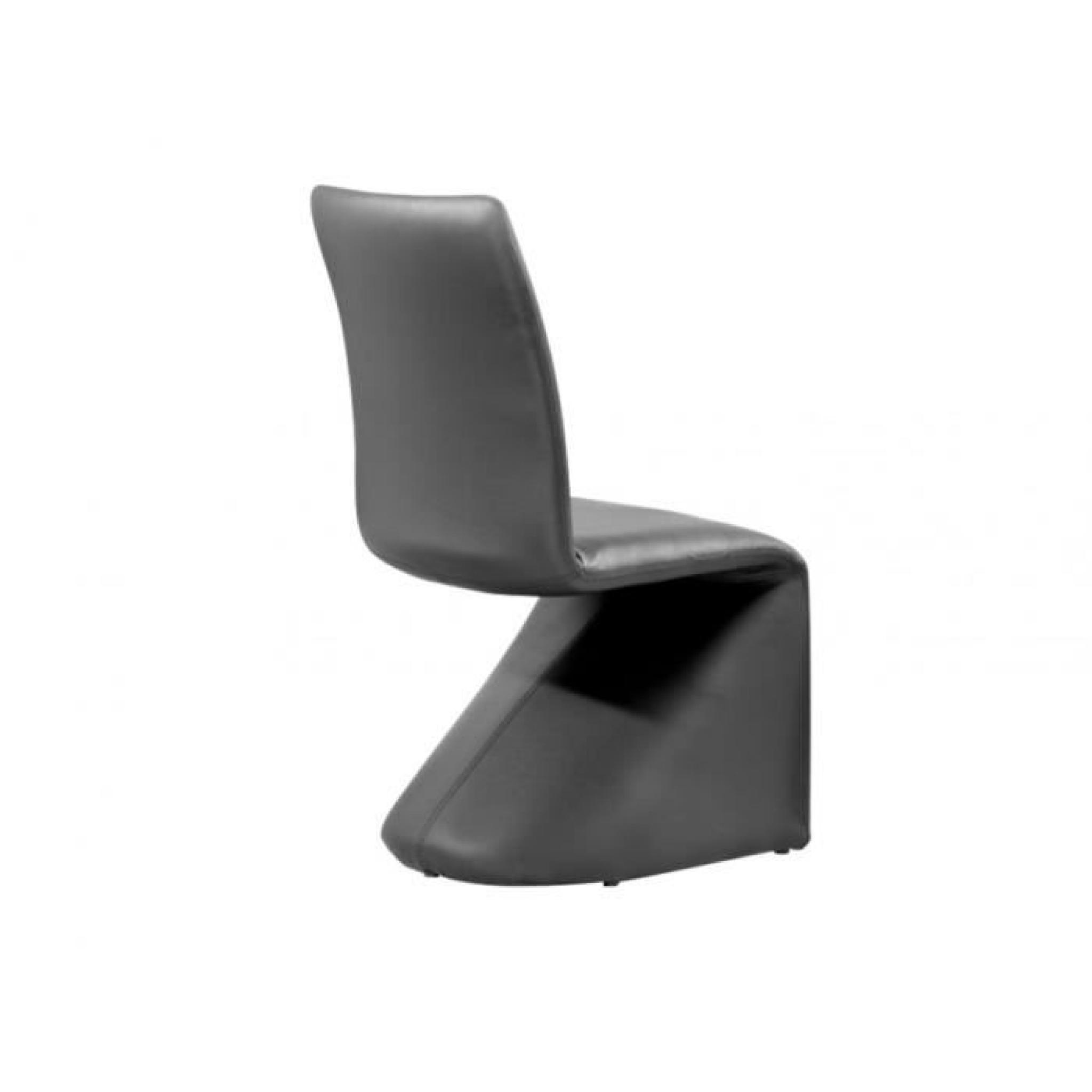 lot de 2 chaises wonka simili noir pas cher - Vente De Chaises