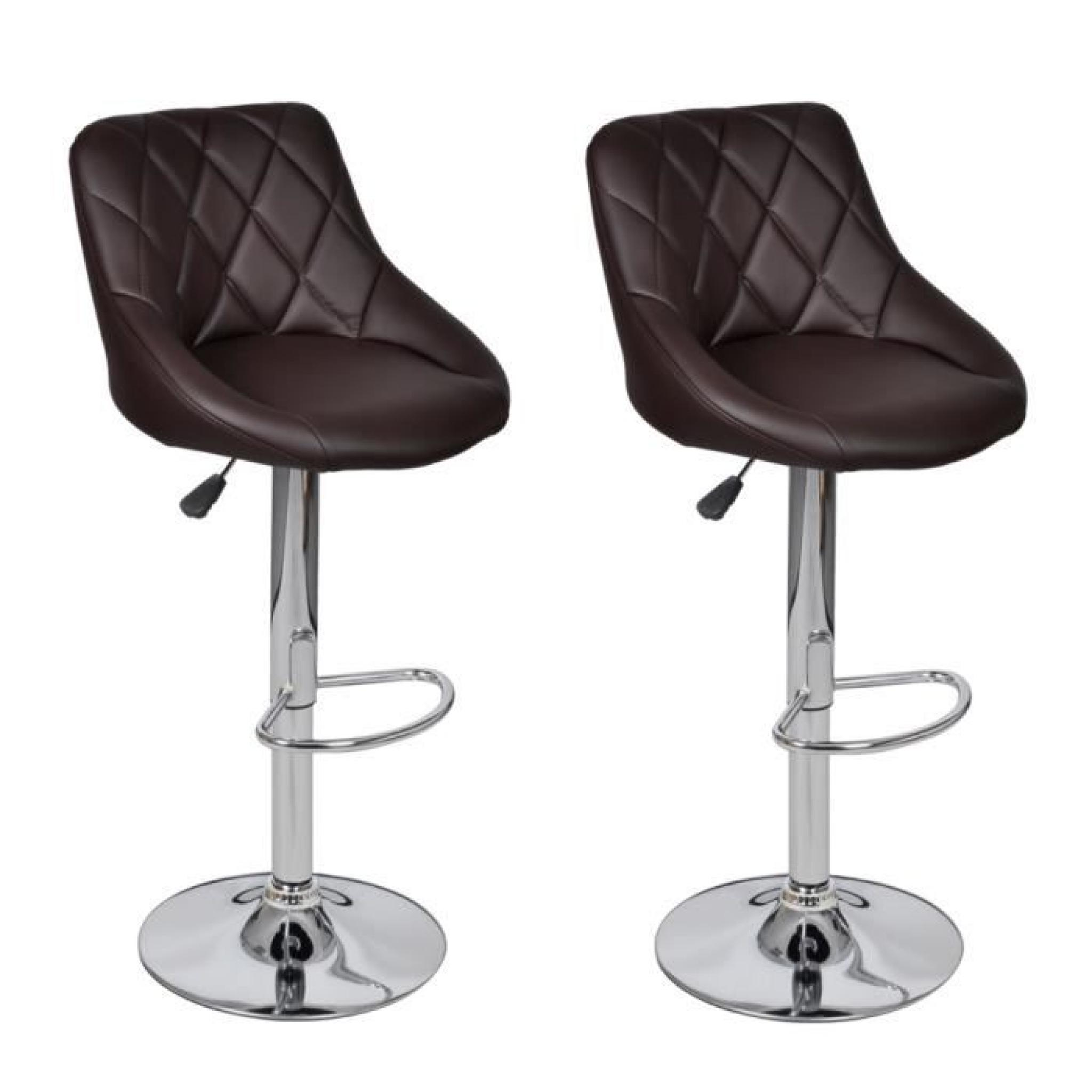 lot de 2 tabourets de bar marron clair design moderne stylashop achat vente tabouret de bar. Black Bedroom Furniture Sets. Home Design Ideas