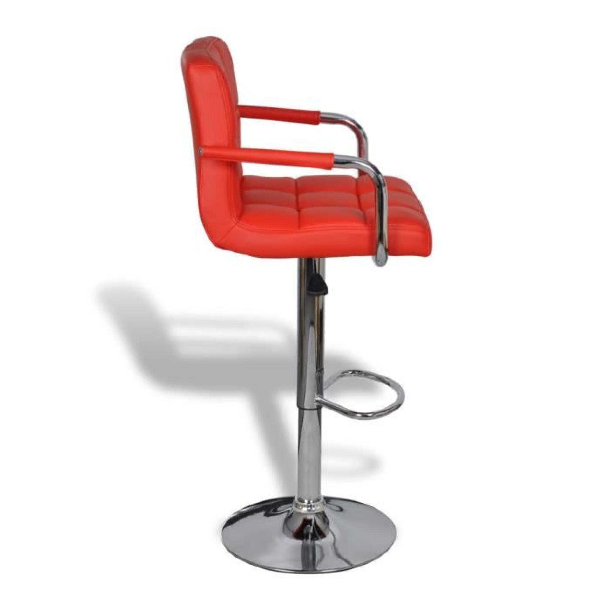 lot de 2 tabourets de bar rouges avec accoudoirs achat. Black Bedroom Furniture Sets. Home Design Ideas