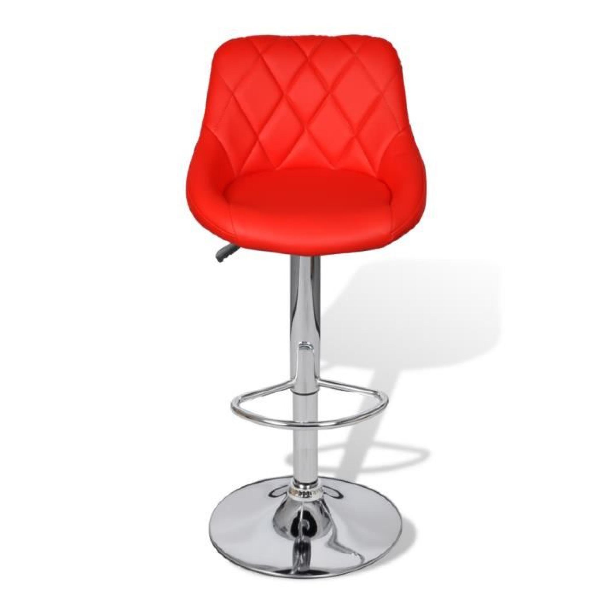 lot de 2 tabourets de bar rouges design moderne achat. Black Bedroom Furniture Sets. Home Design Ideas