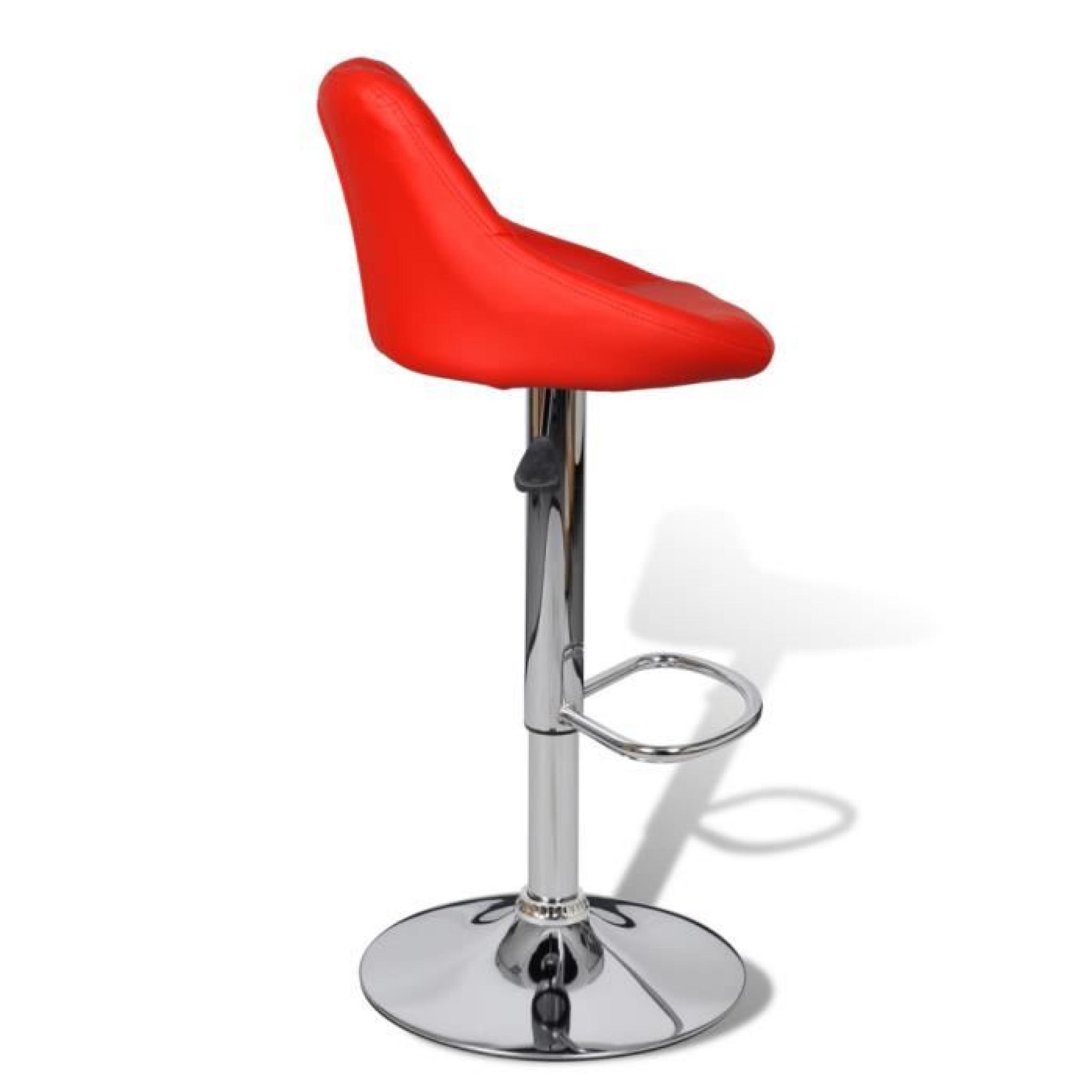 lot de 2 tabourets de bar rouges design moderne achat vente tabouret de bar pas cher couleur. Black Bedroom Furniture Sets. Home Design Ideas