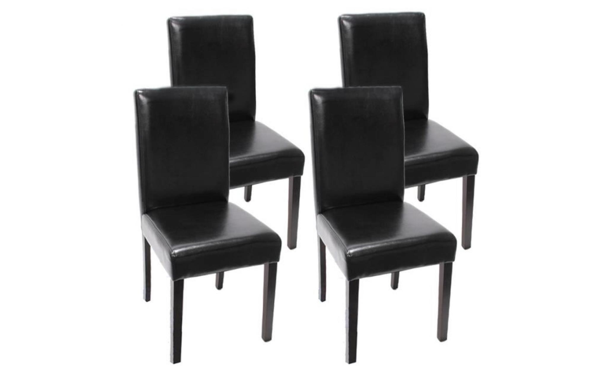 Lot de 4 chaises de s jour littau cuir reconstitu - Chaise sejour pas cher ...