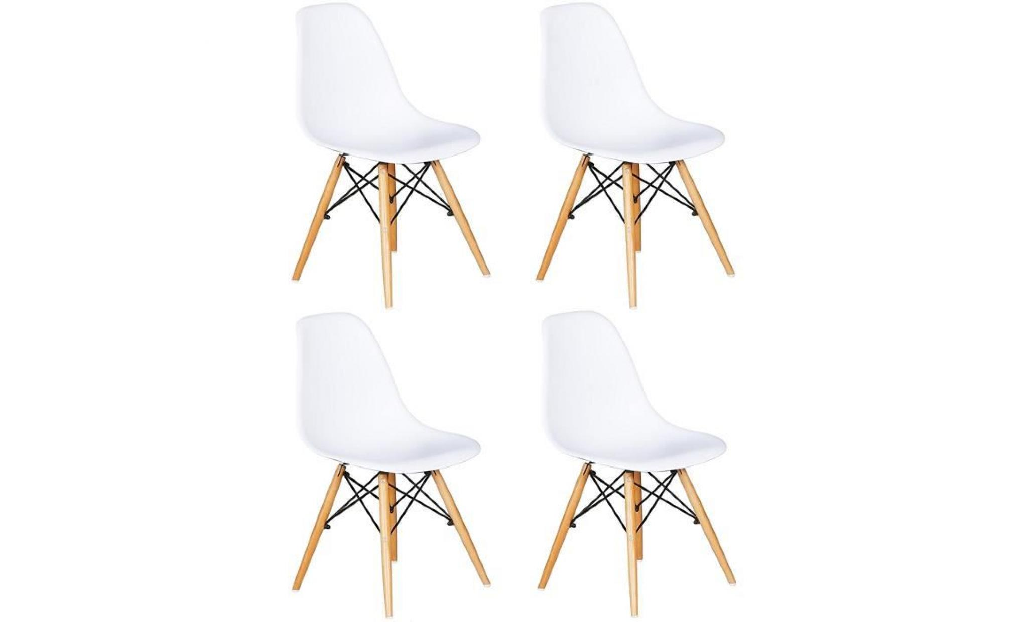 Lot De 4 Chaises Design DSW Blanches
