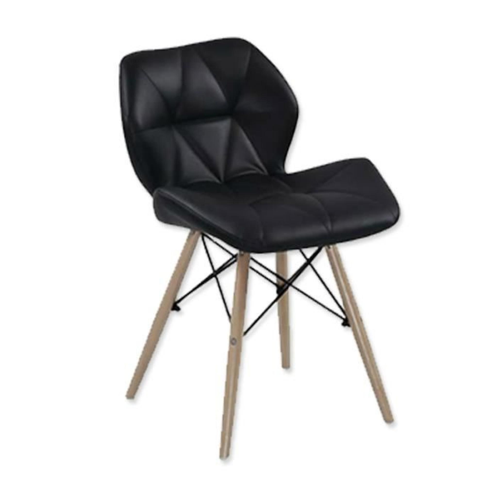 Lot de 4 chaises design ophir noir achat vente chaise for Lot 4 chaise salle a manger