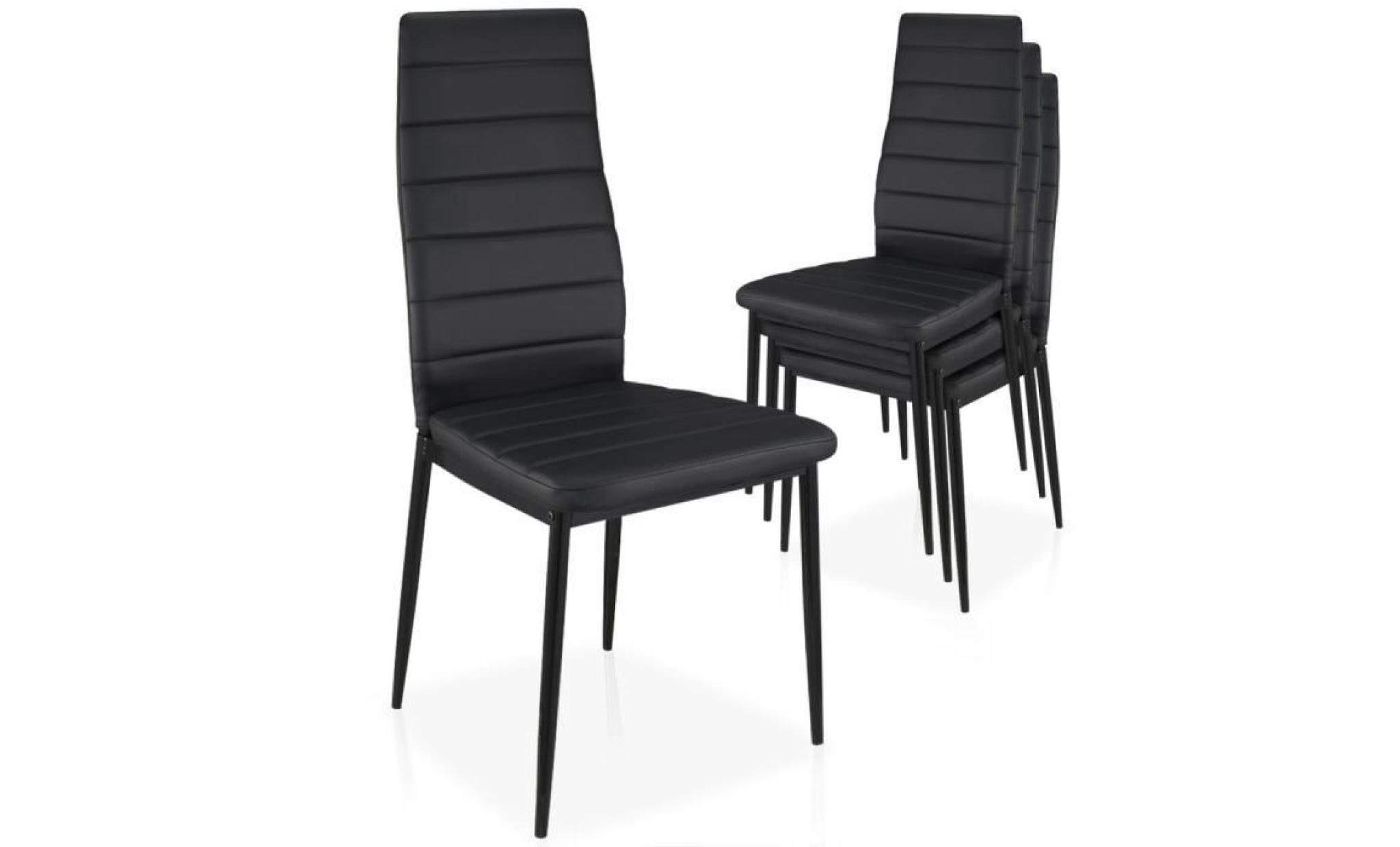 Lot de 4 chaises Stratus Empilables Noir