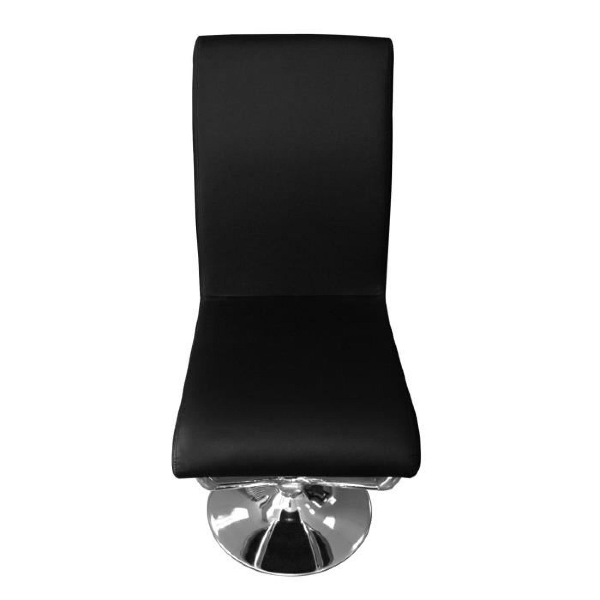 Lot de 6 chaises colami noir achat vente chaise salle a for Lot de 8 chaise pas cher