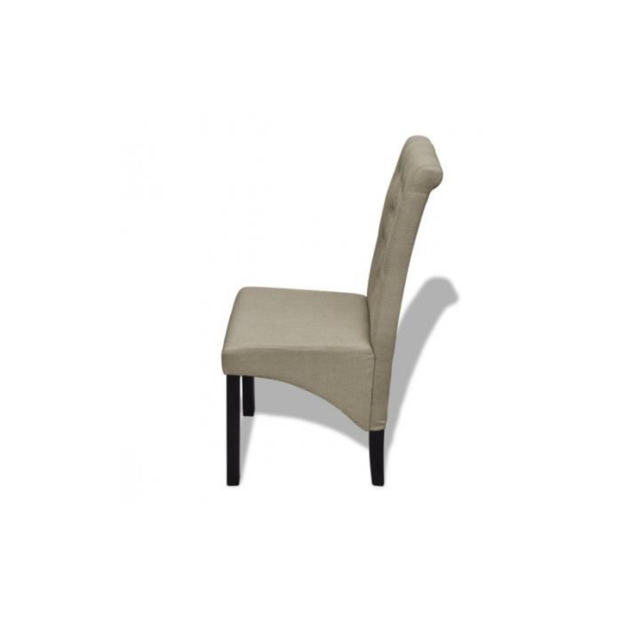 Lot de 6 chaises de salle manger salon beige antique achat vente chaise salle a manger pas - Lot de 6 chaises salle a manger ...