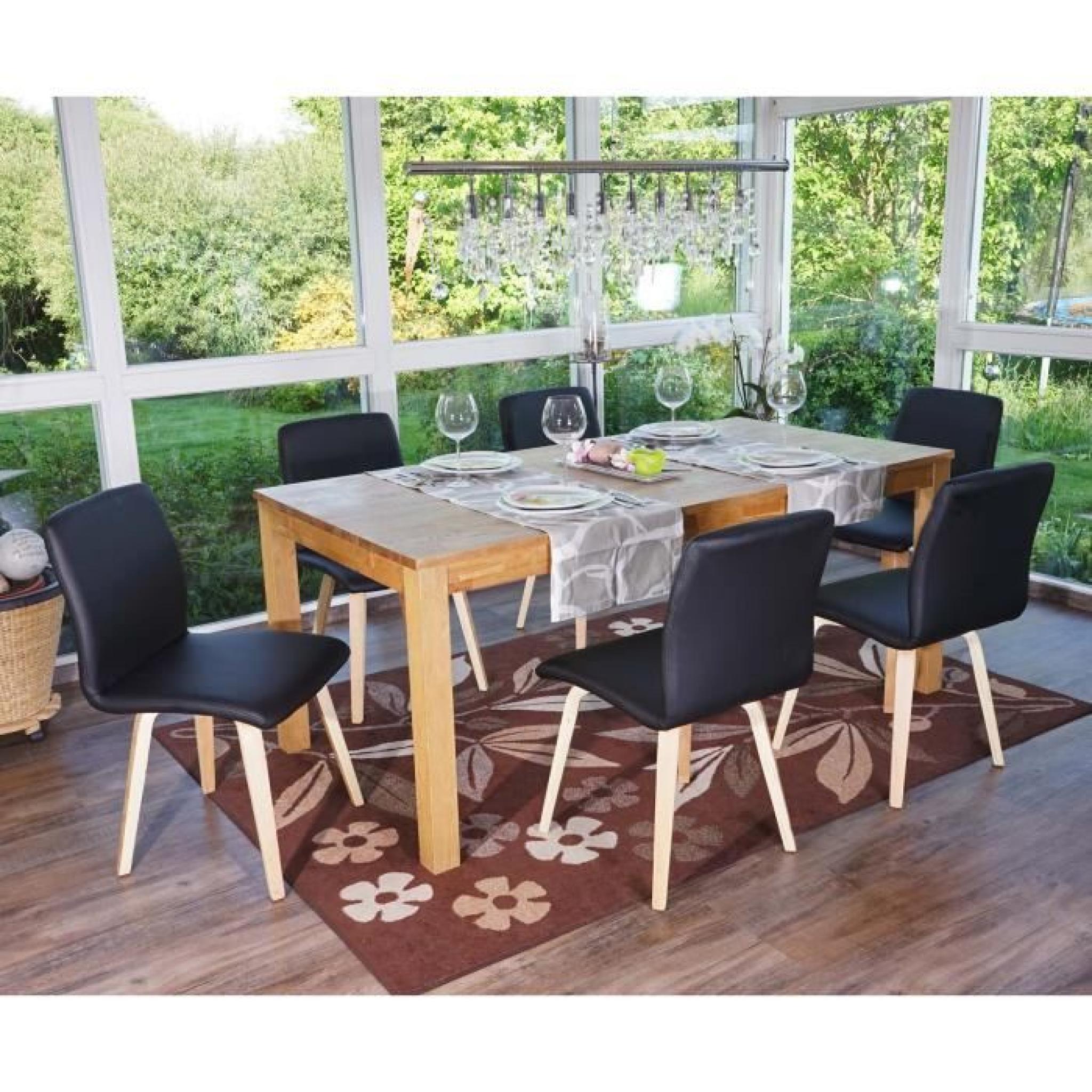 Lot de 6 chaises de s jour bendorf style r tro pieds for Chaises pas cher lot de 6
