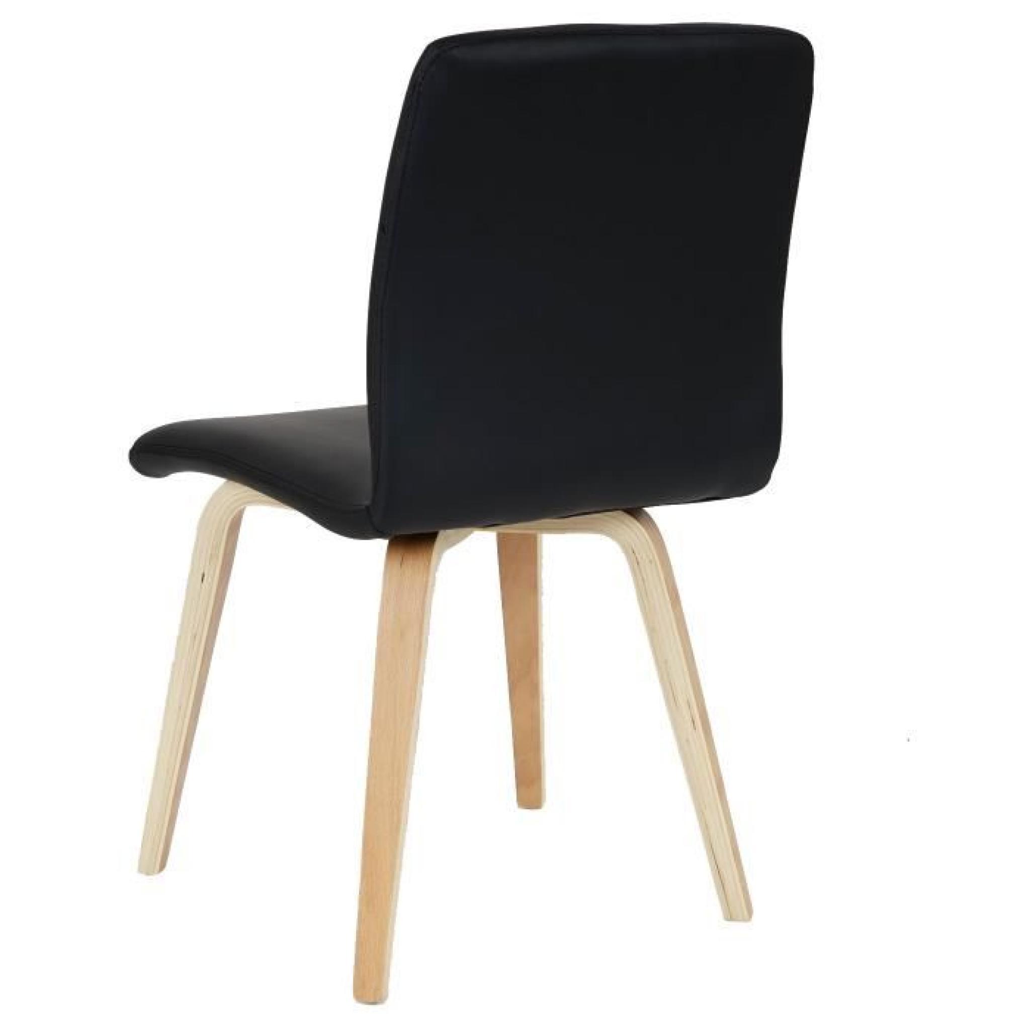 Lot de 6 chaises de séjour Bendorf, style rétro, pieds clairs ~ tissu, ac82b740c636
