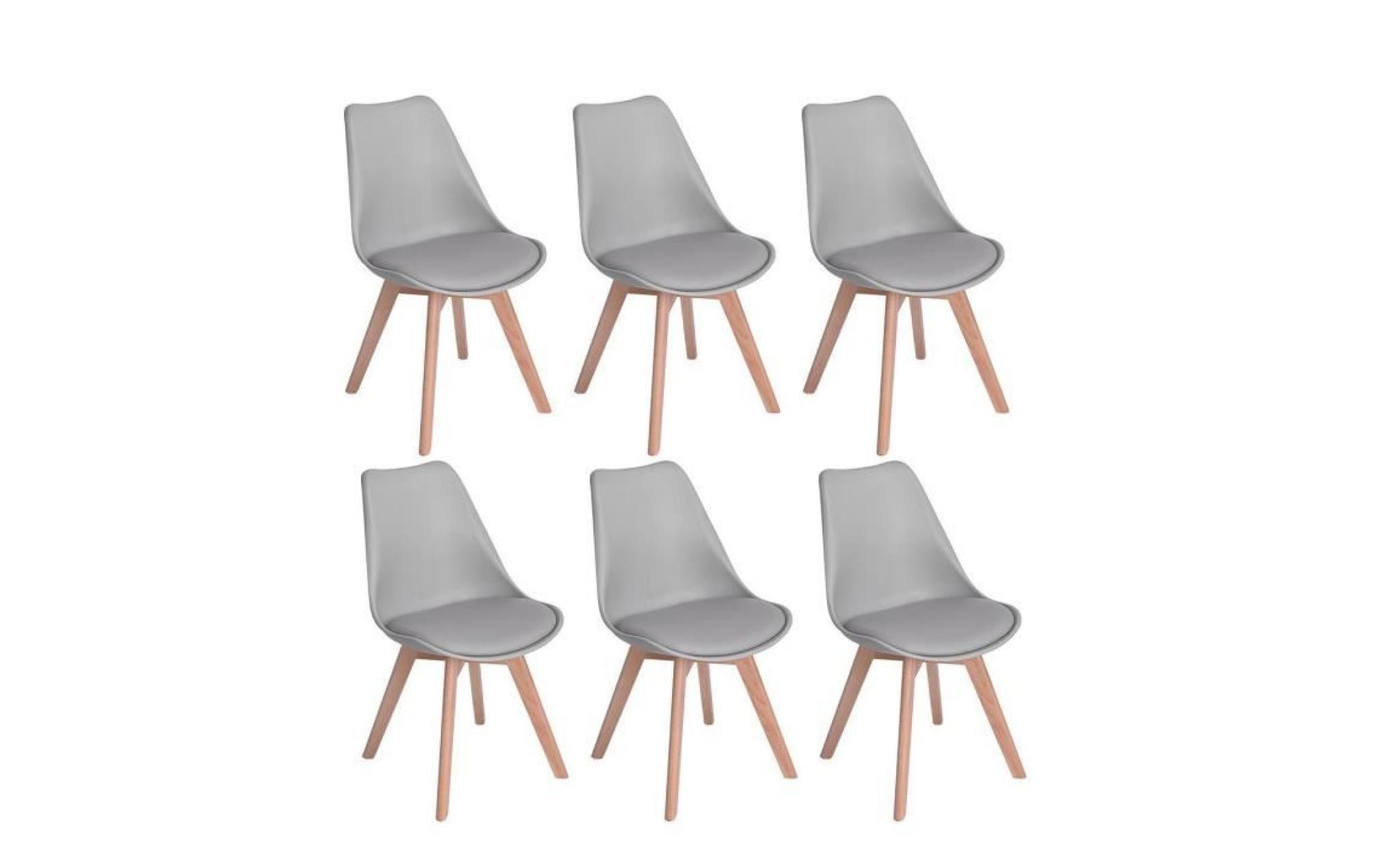 Gris Massif De Design Lot En Bois Scandinave Jkk Tulipe 6 Contemporain Chaises Clair Nordique Pieds Hêtre wn80kOP
