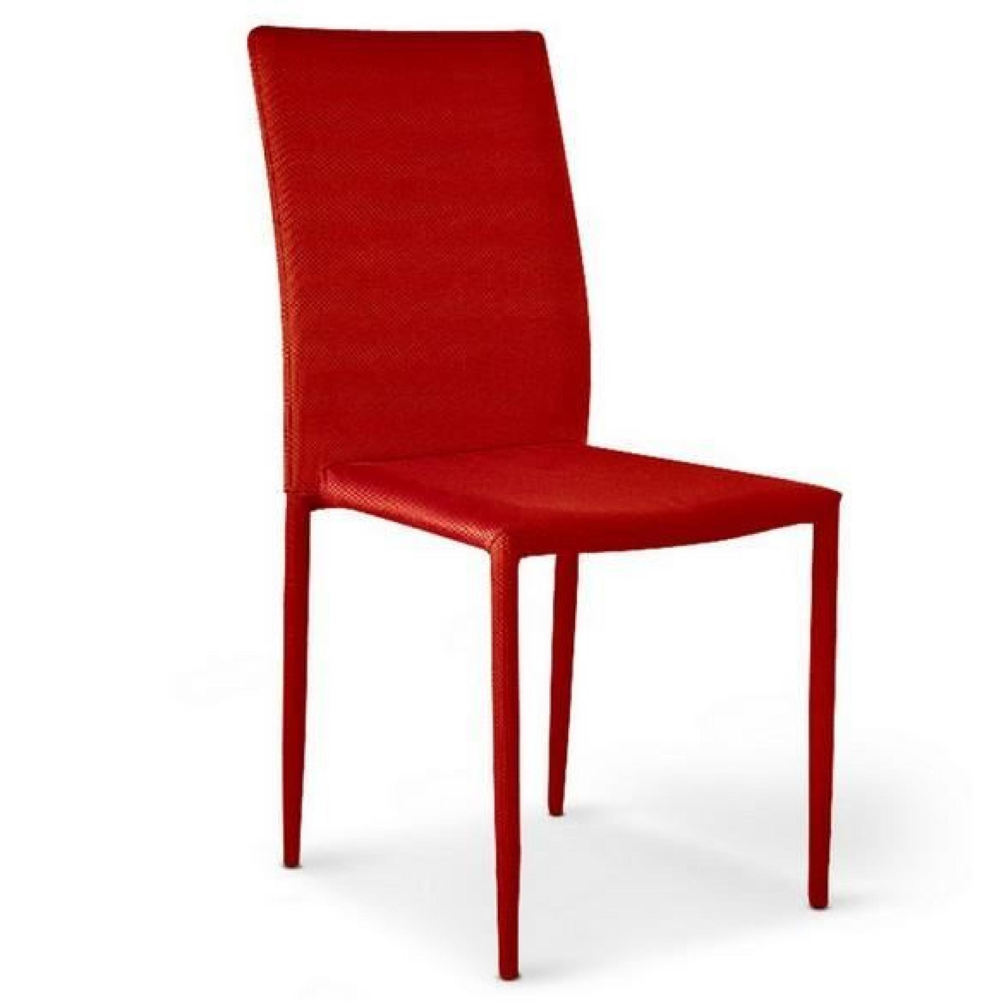 Rouge Chaises 6 Lot De Empilables Maudy gYfb76y