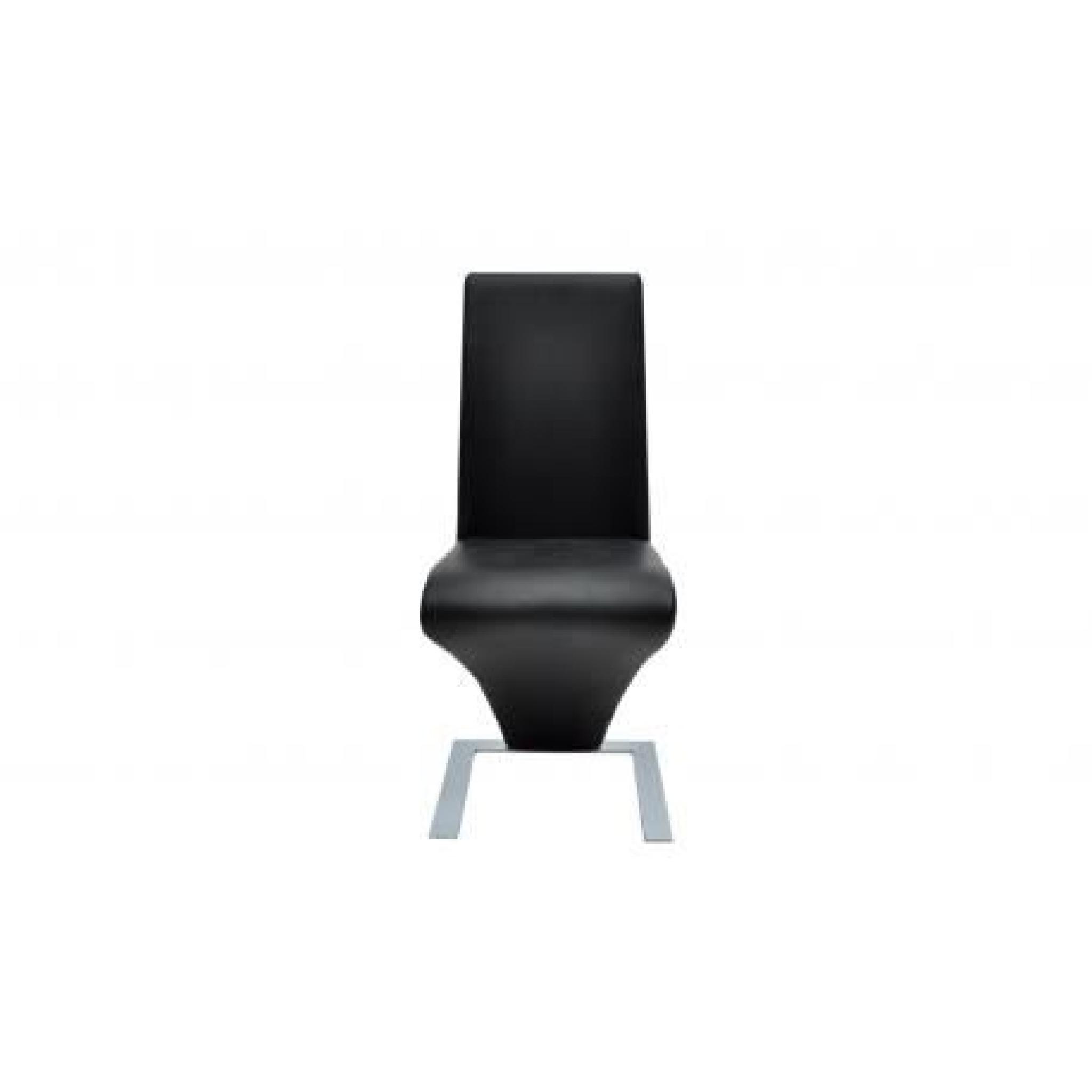 Lot de 6 chaises noir achat vente chaise salle a manger for Chaise salle a manger noir pas cher