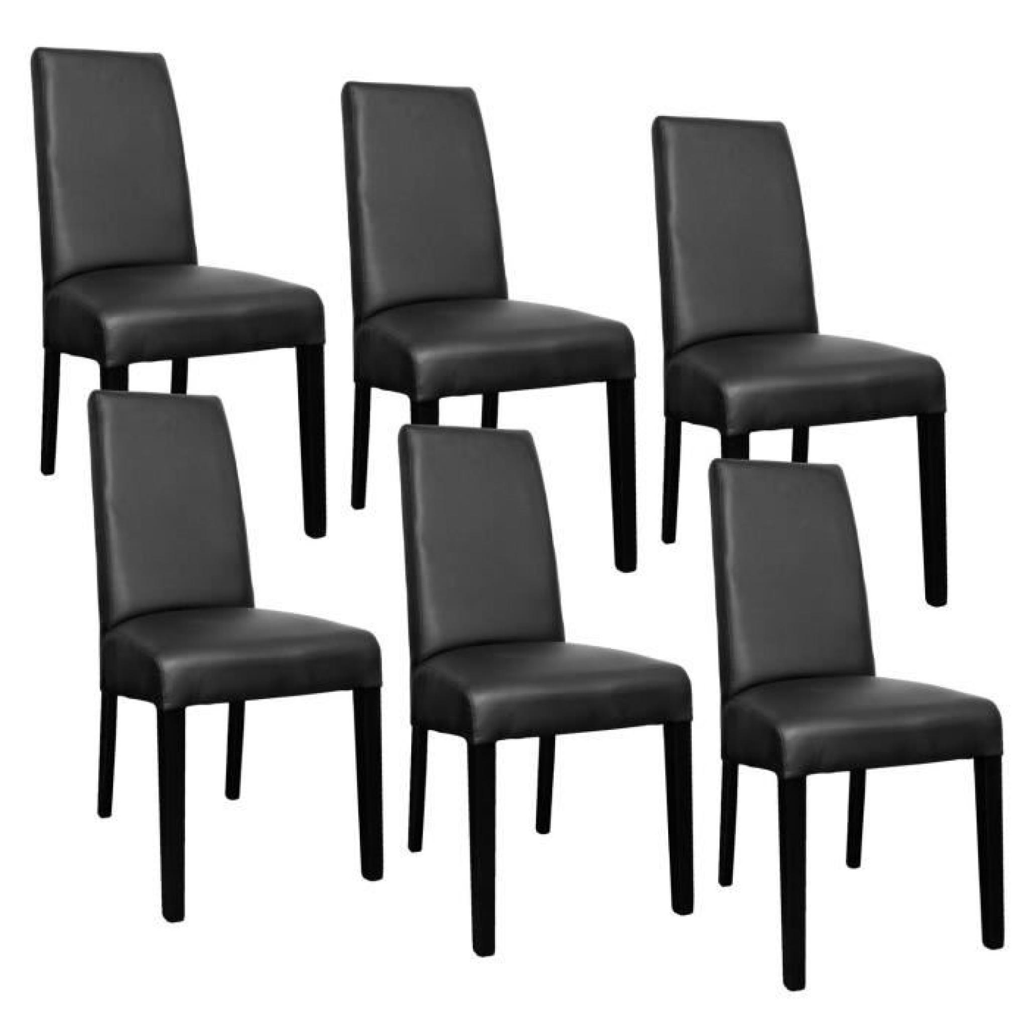 Lot De 6 Chaises Noir Muka