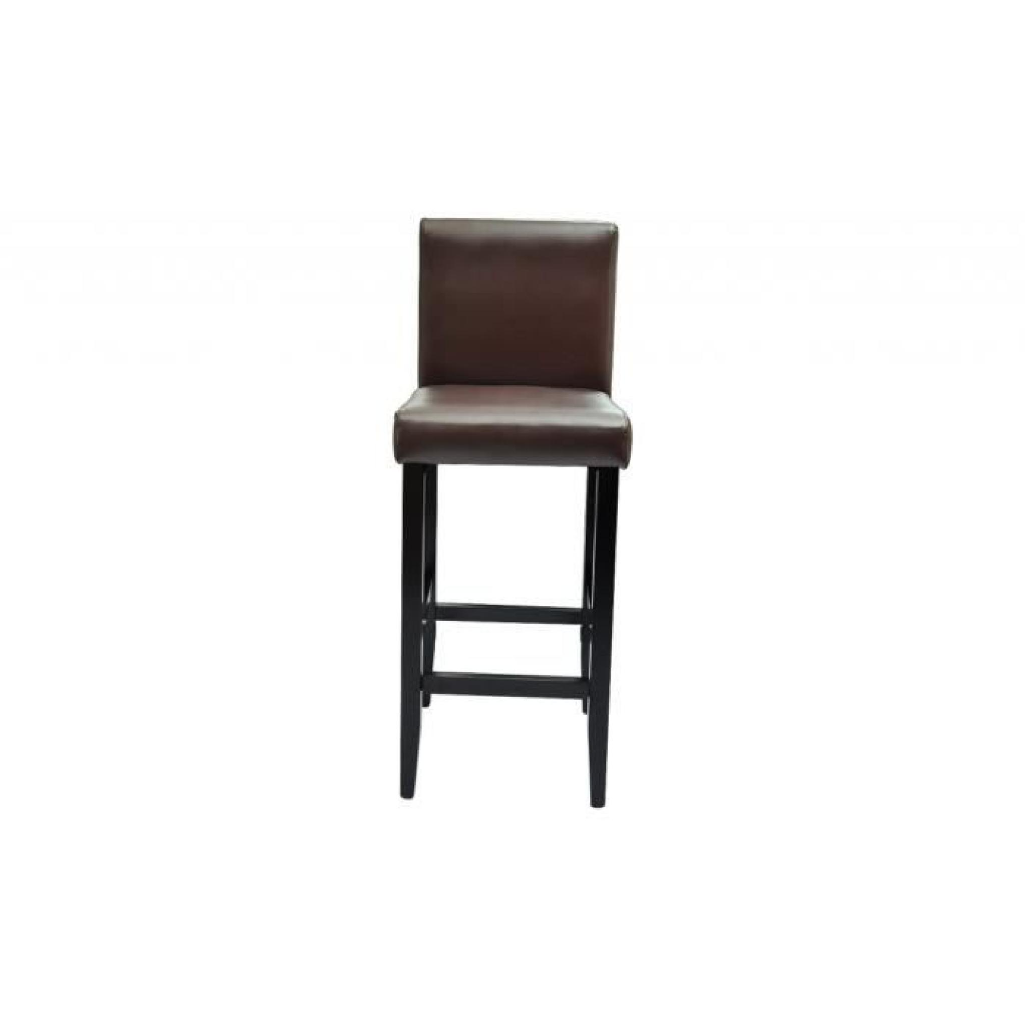 lot de 6 tabourets de bar chicago achat vente tabouret. Black Bedroom Furniture Sets. Home Design Ideas