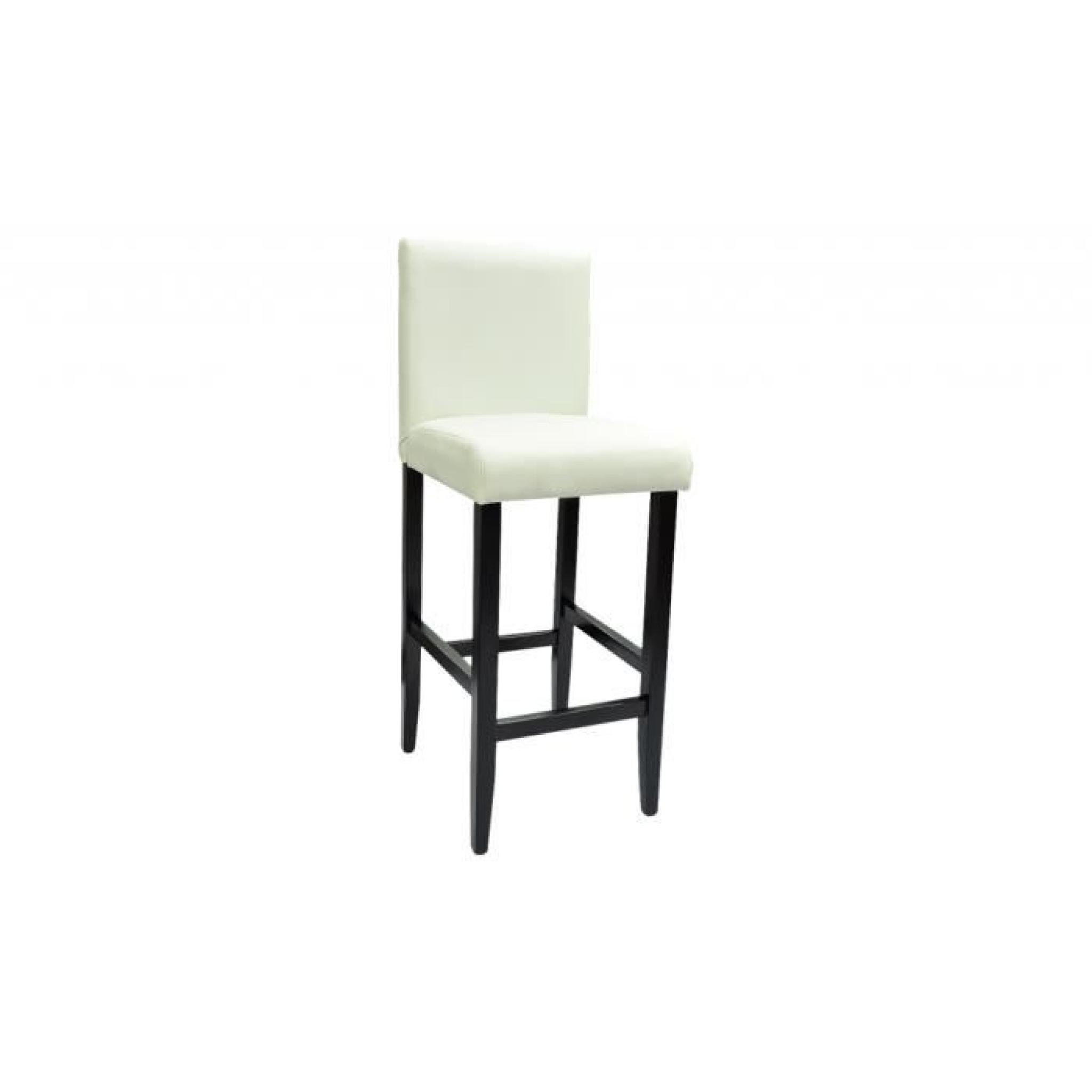 lot de 6 tabourets de bar chicago blanc achat vente tabouret de bar pas cher couleur et. Black Bedroom Furniture Sets. Home Design Ideas