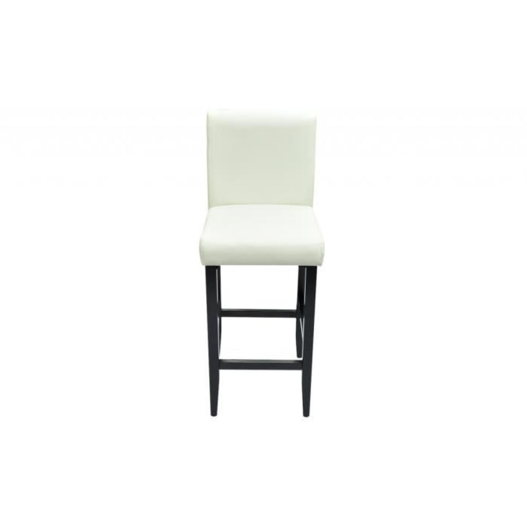 lot de 6 tabourets de bar chicago blanc achat vente. Black Bedroom Furniture Sets. Home Design Ideas