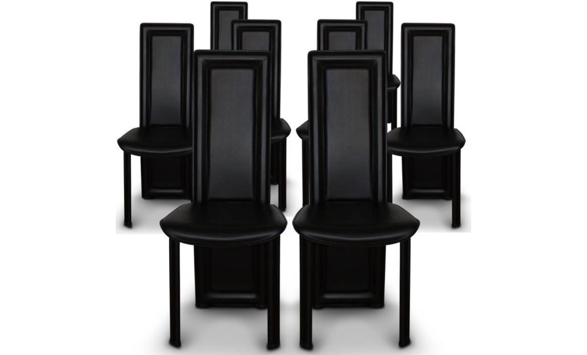 lot de 8 chaises maestro noir achat vente chaise salle a. Black Bedroom Furniture Sets. Home Design Ideas