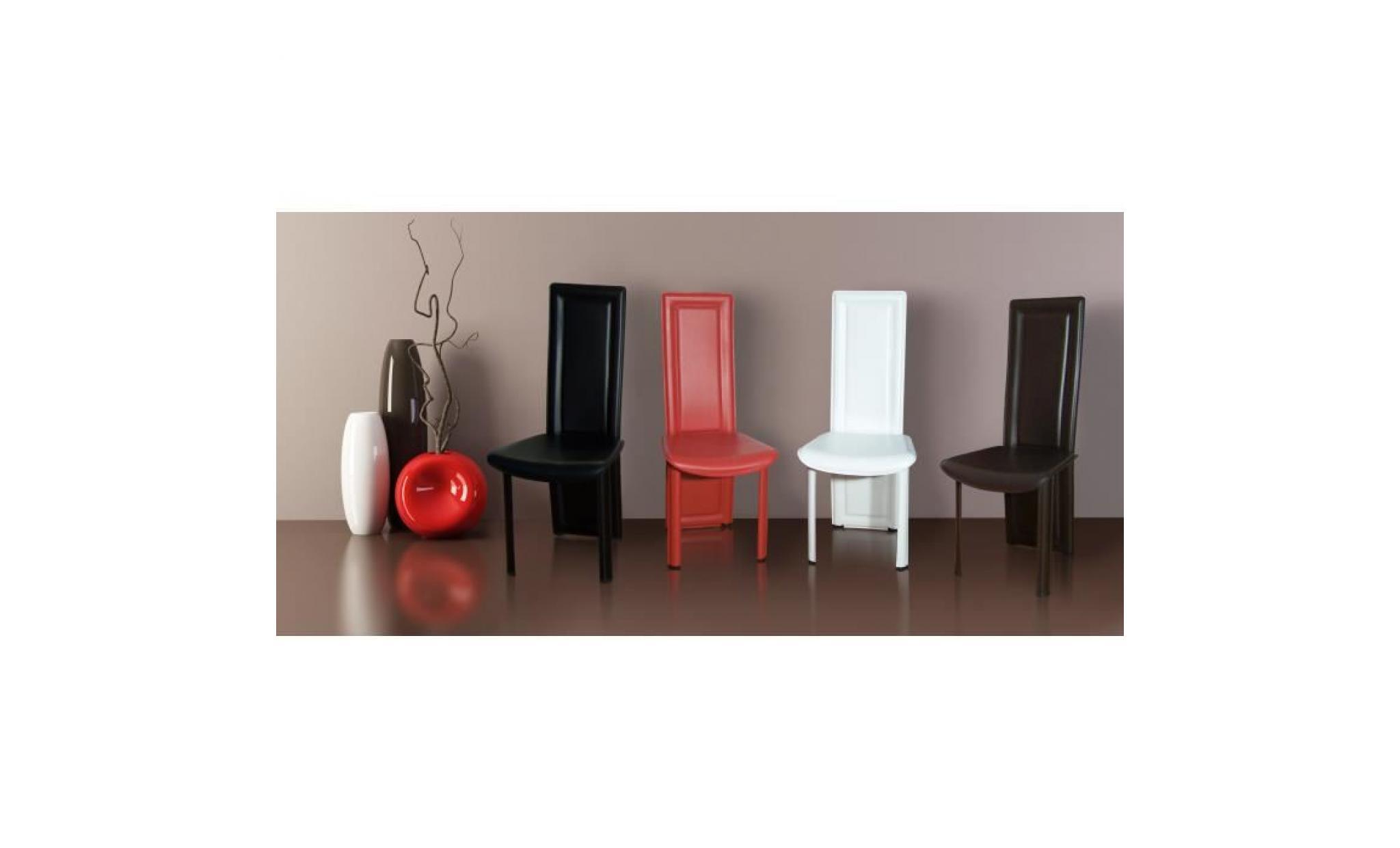 Lot de 8 chaises maestro noir achat vente chaise salle a for Lot de 8 chaise pas cher