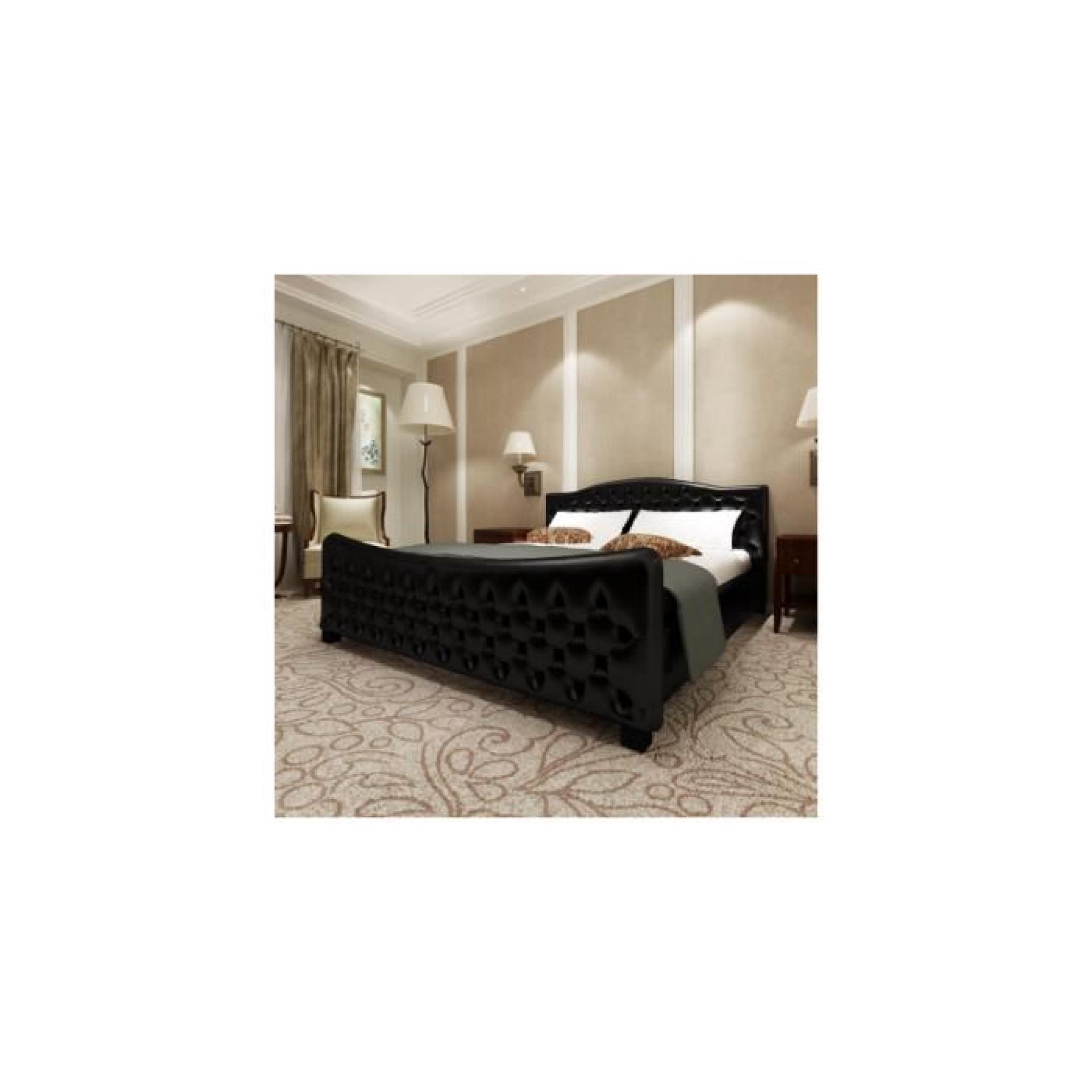 luxueux lit en pu 180 achat vente lit pas cher couleur et. Black Bedroom Furniture Sets. Home Design Ideas