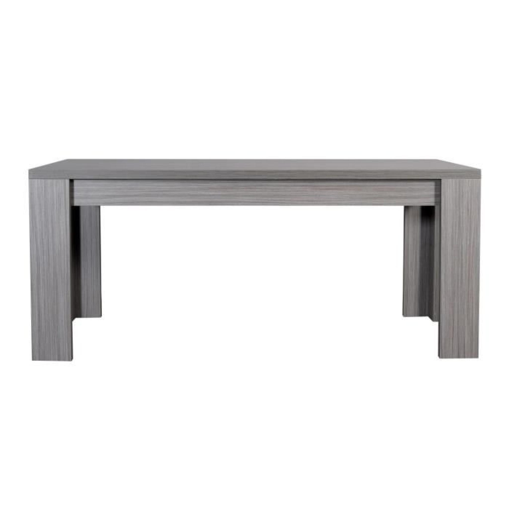 Lynea Table Rect Bois Gris Et Laque L180 260 Cm Achat